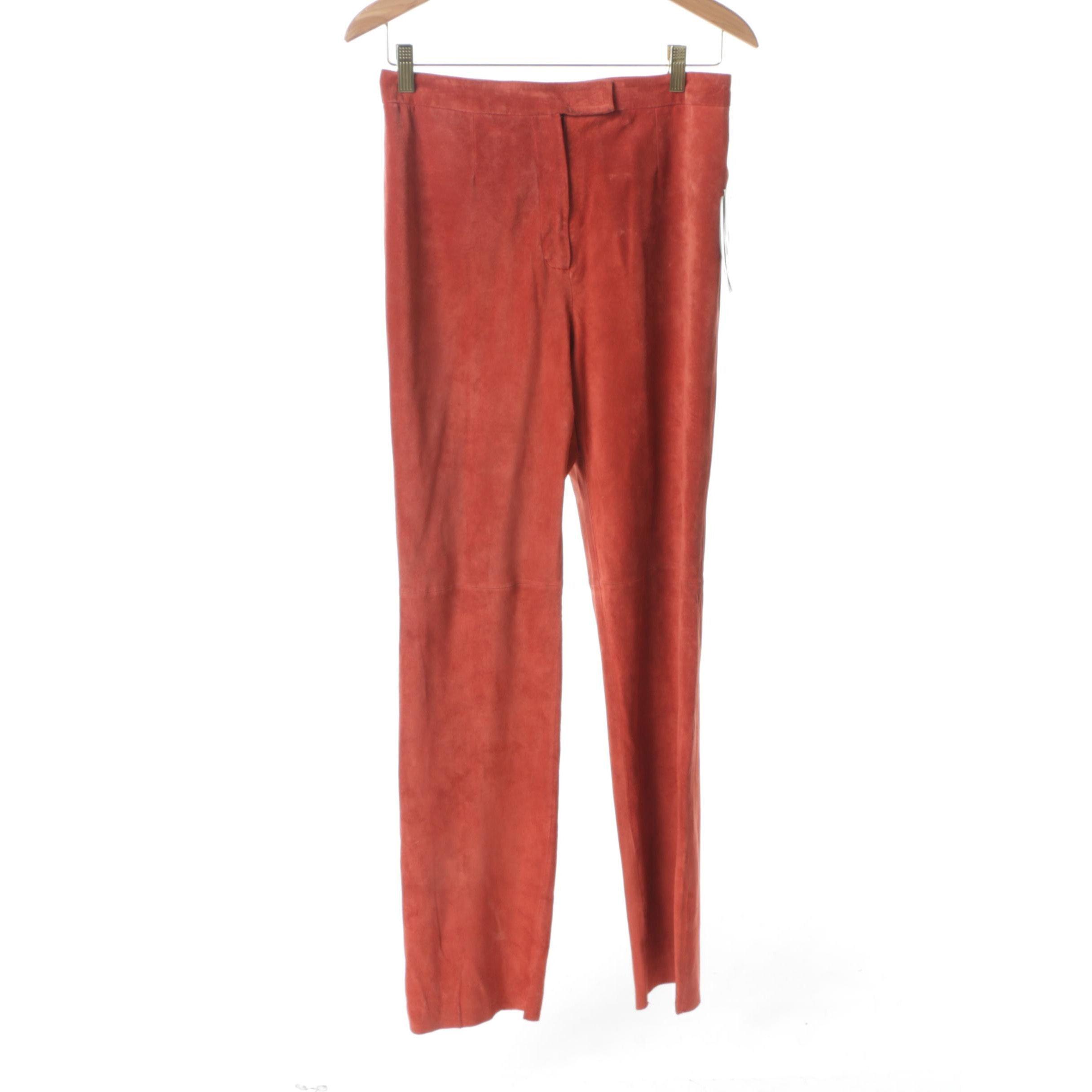 Women's Bernardo Saffron Suede Pants