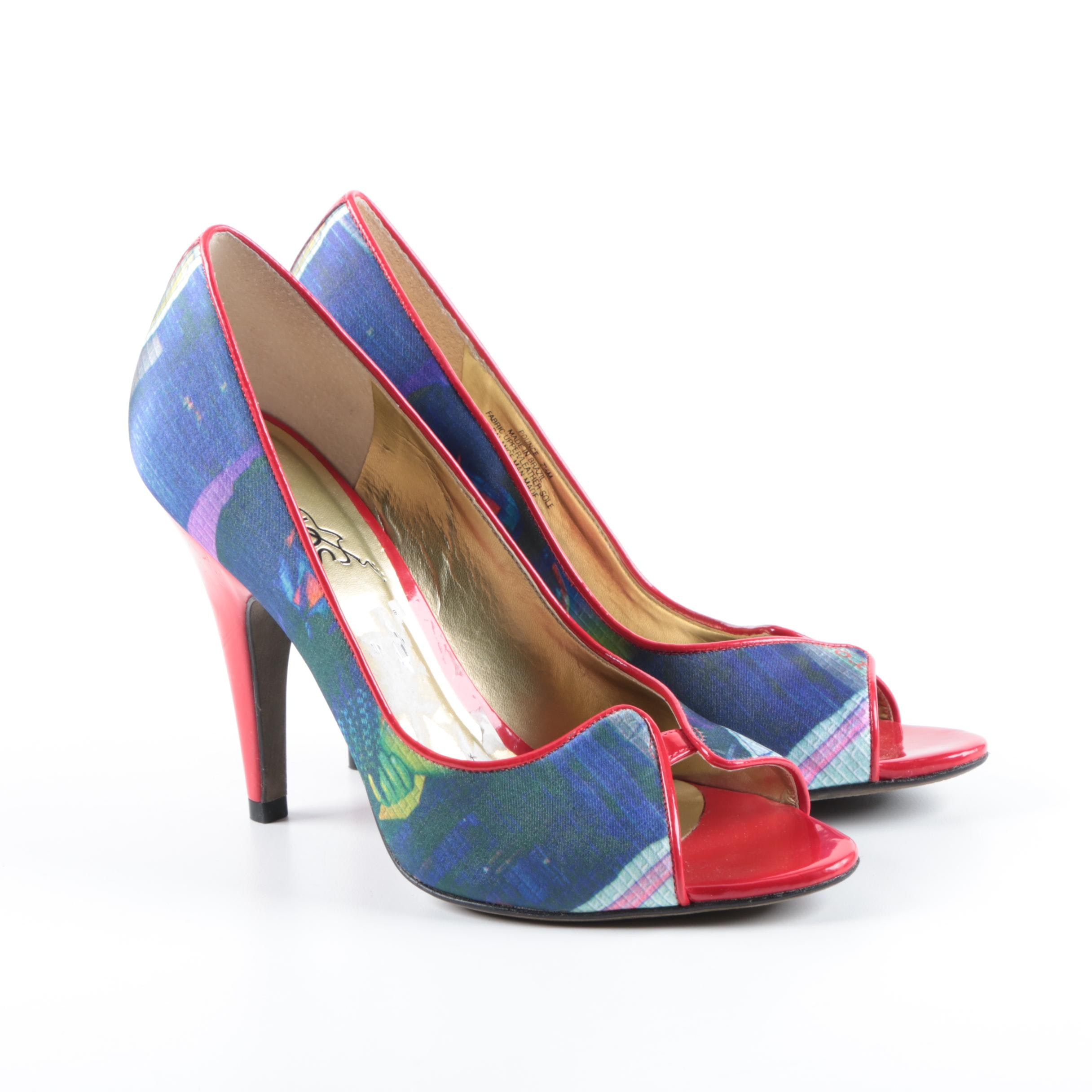 Carlos by Carlos Santana Multicolored Peep Toe Pumps
