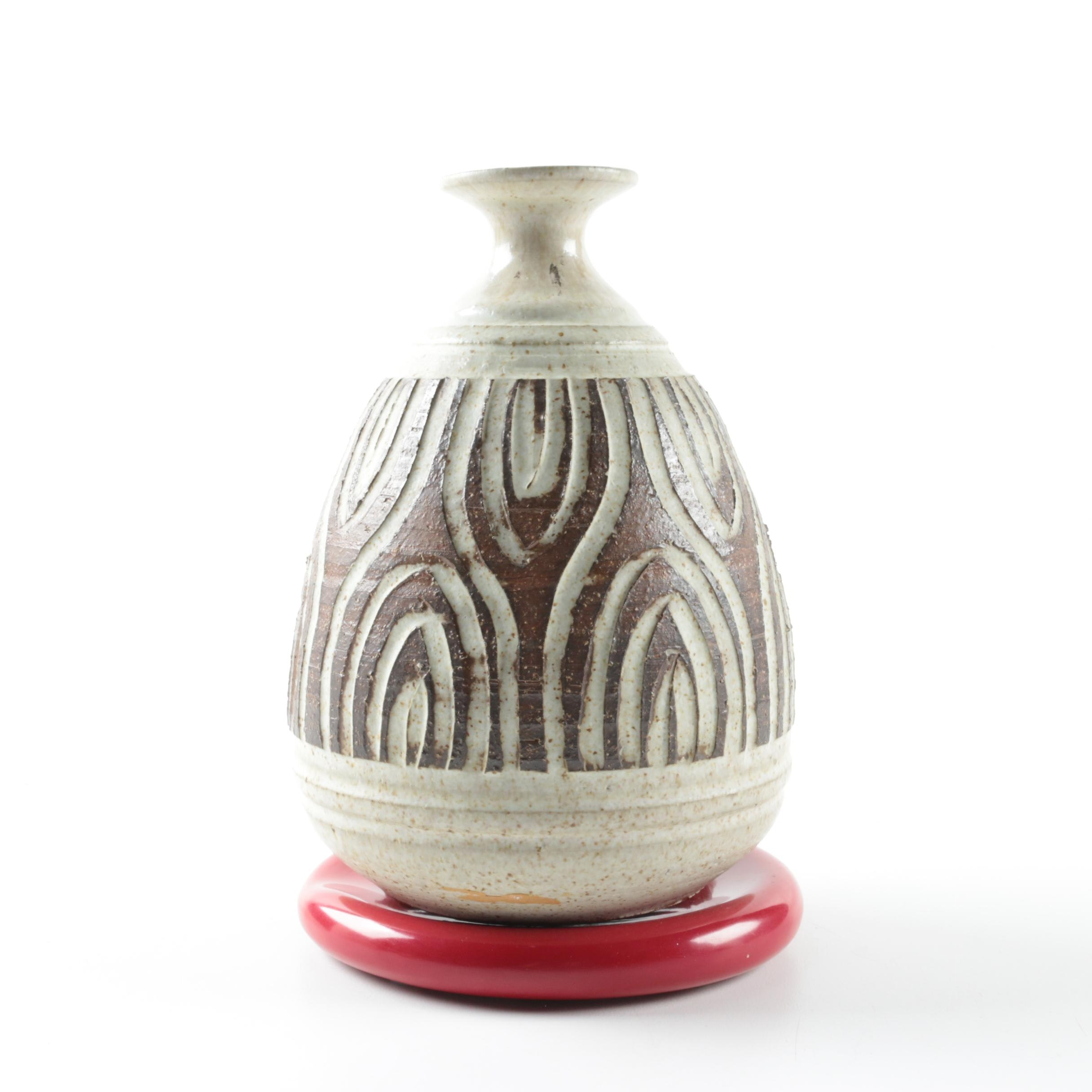 Wishon Harrell Modernist Hand-Thrown Stoneware Vase and More