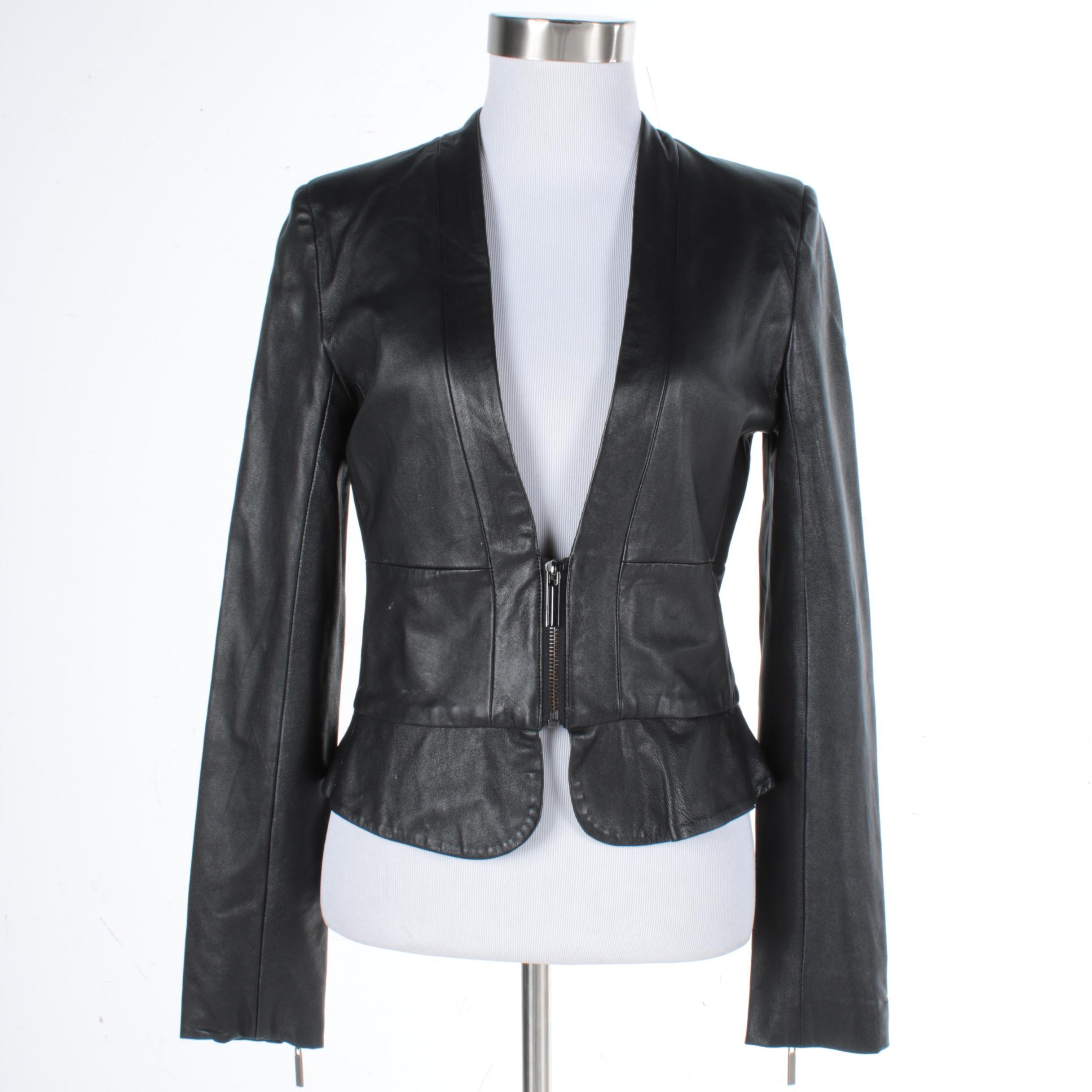 Women's Anna Catherine Black Leather Jacket