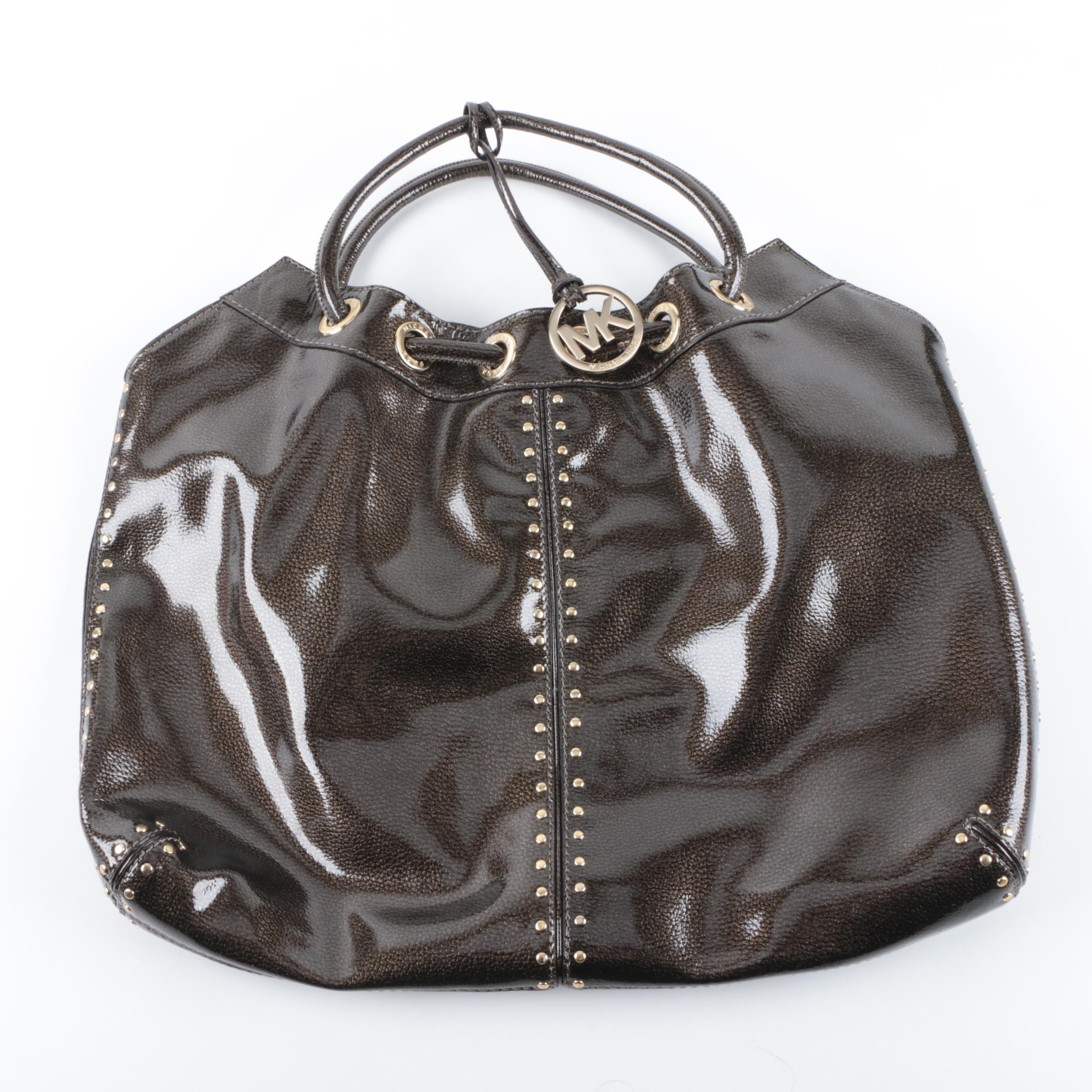 MICHAEL Michael Kors Brown Patent Leather Tote