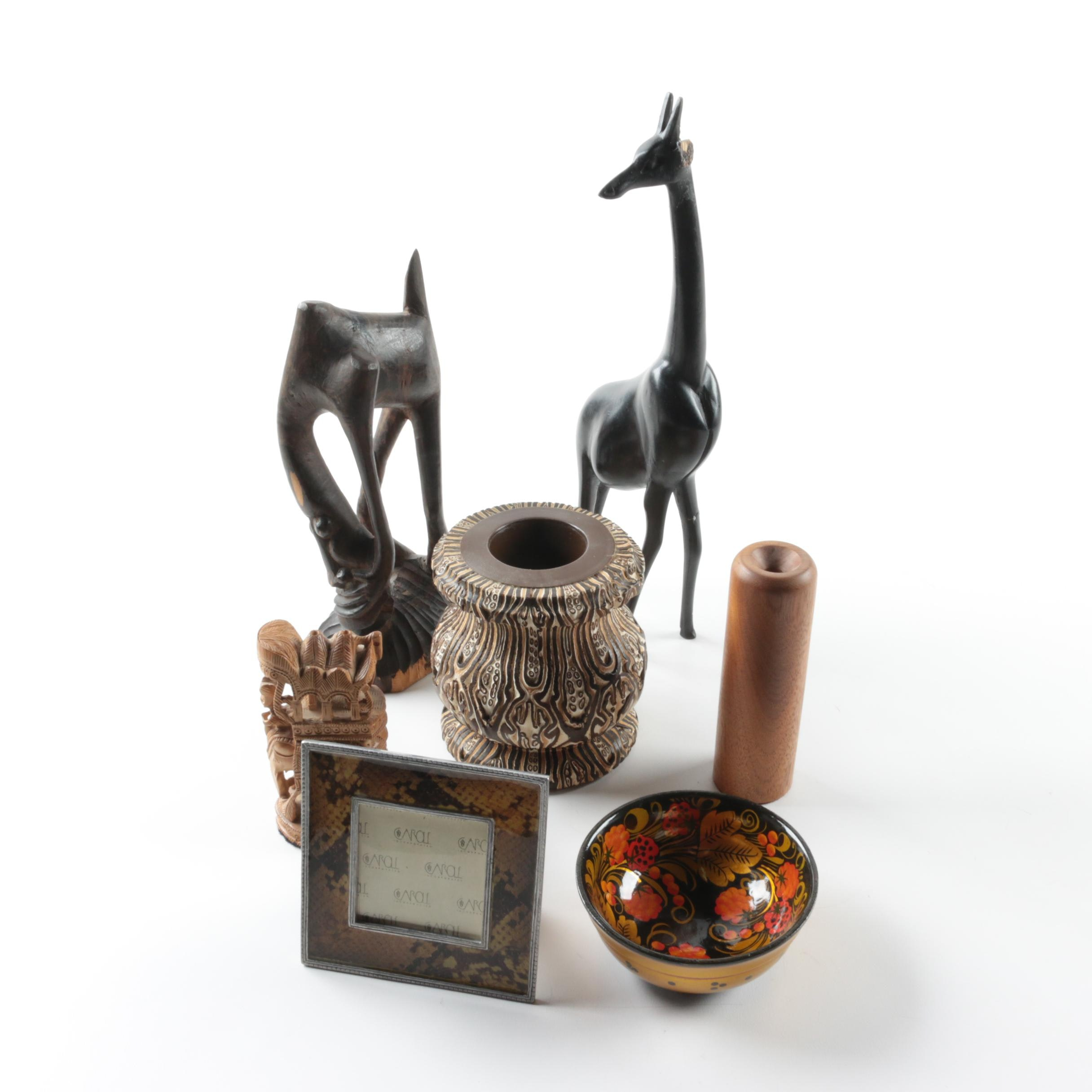 Decorative Objects Featuring Makonde Carving