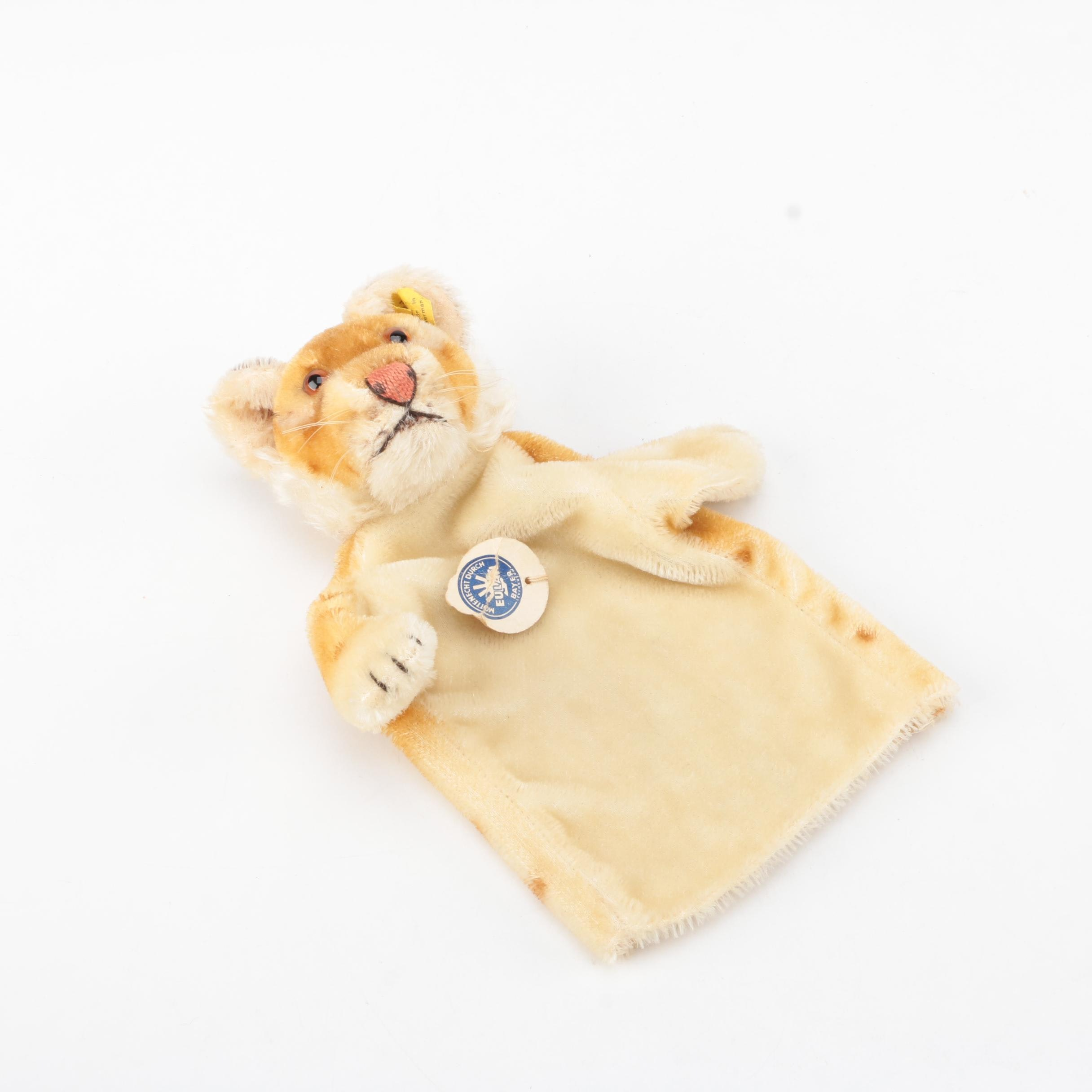 Circa 1960s Steiff Mohair Tiger Hand Puppet