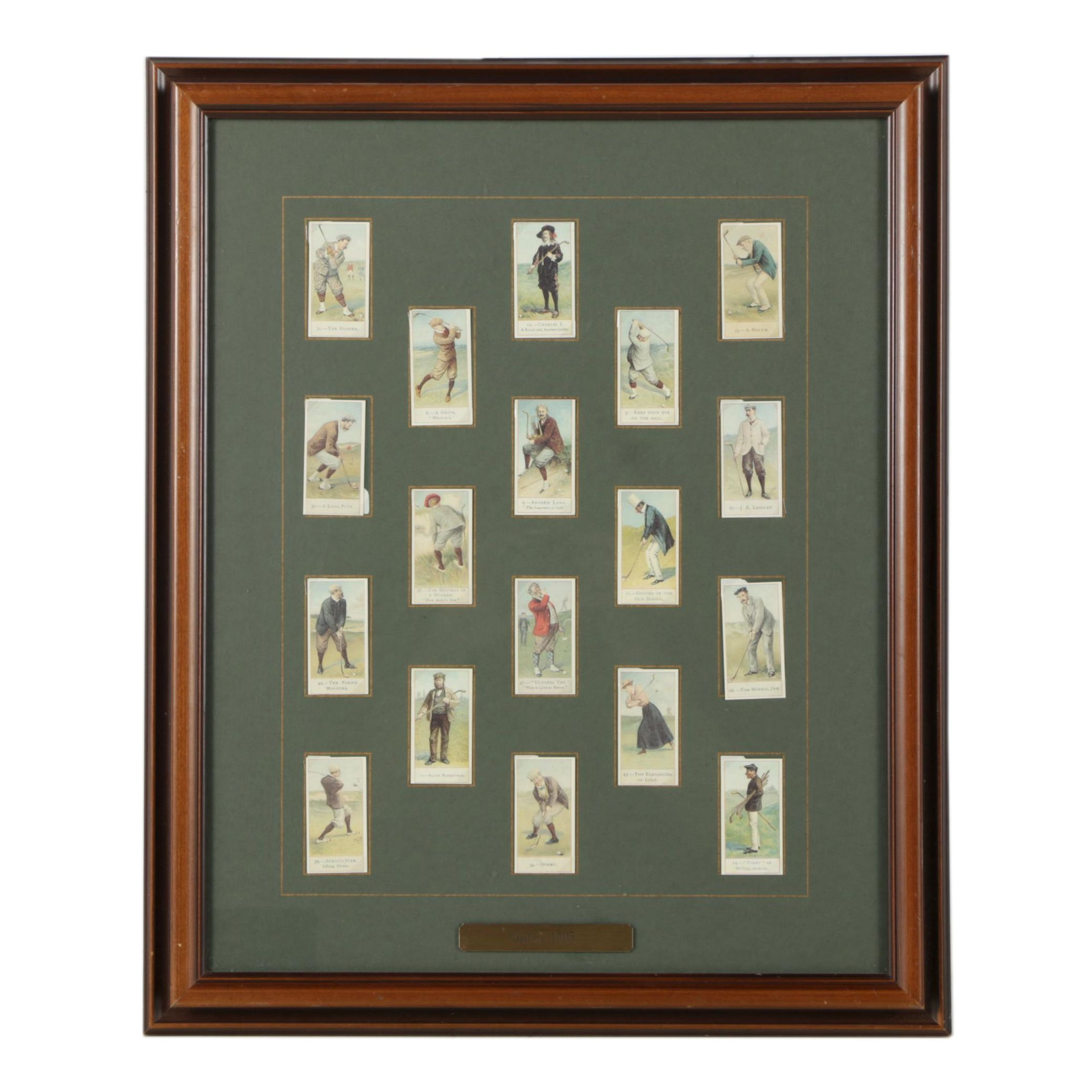 "Offset Lithographs of Tobacco Trading Cards ""1905 Golfers"""