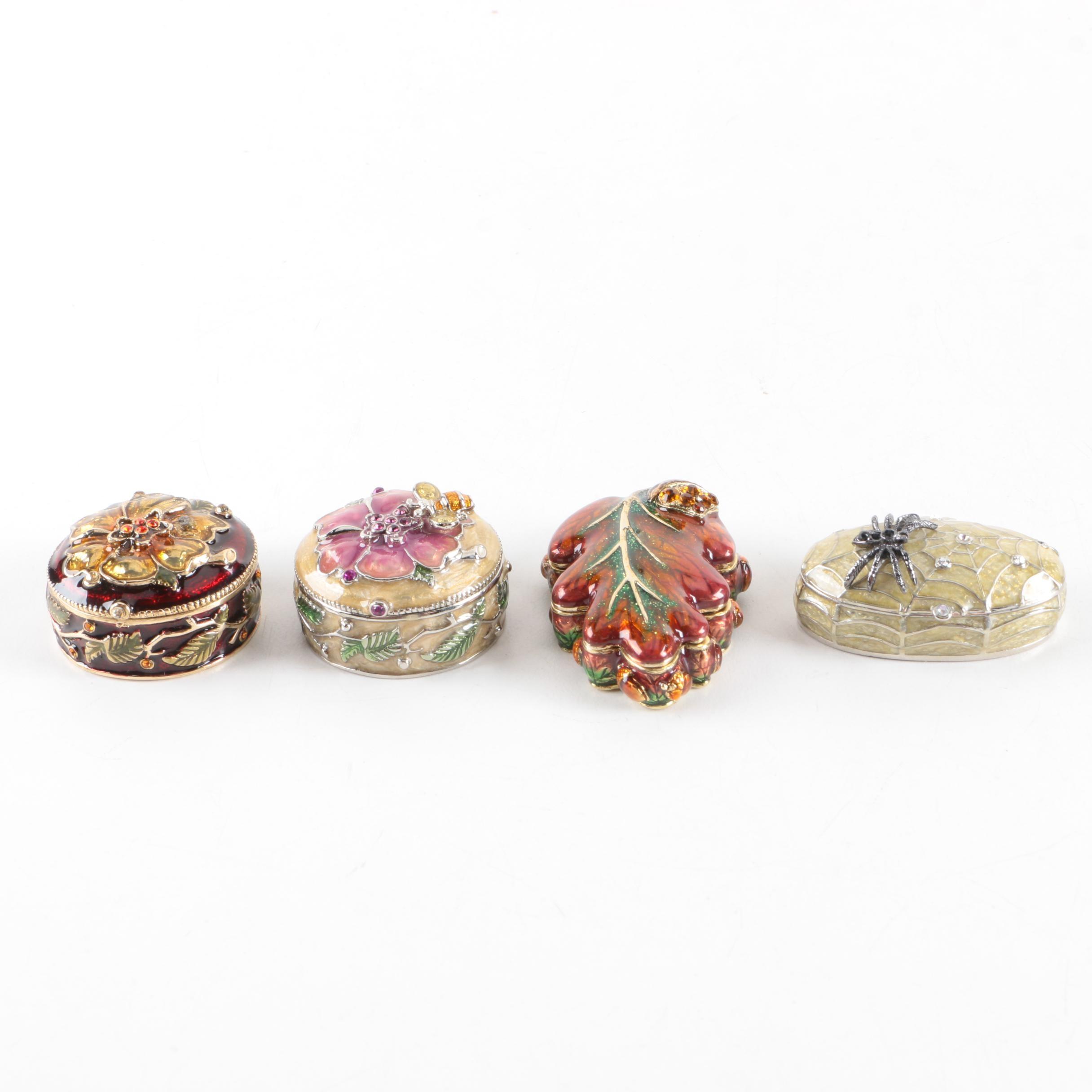 Enameled Trinket Boxes by Monet