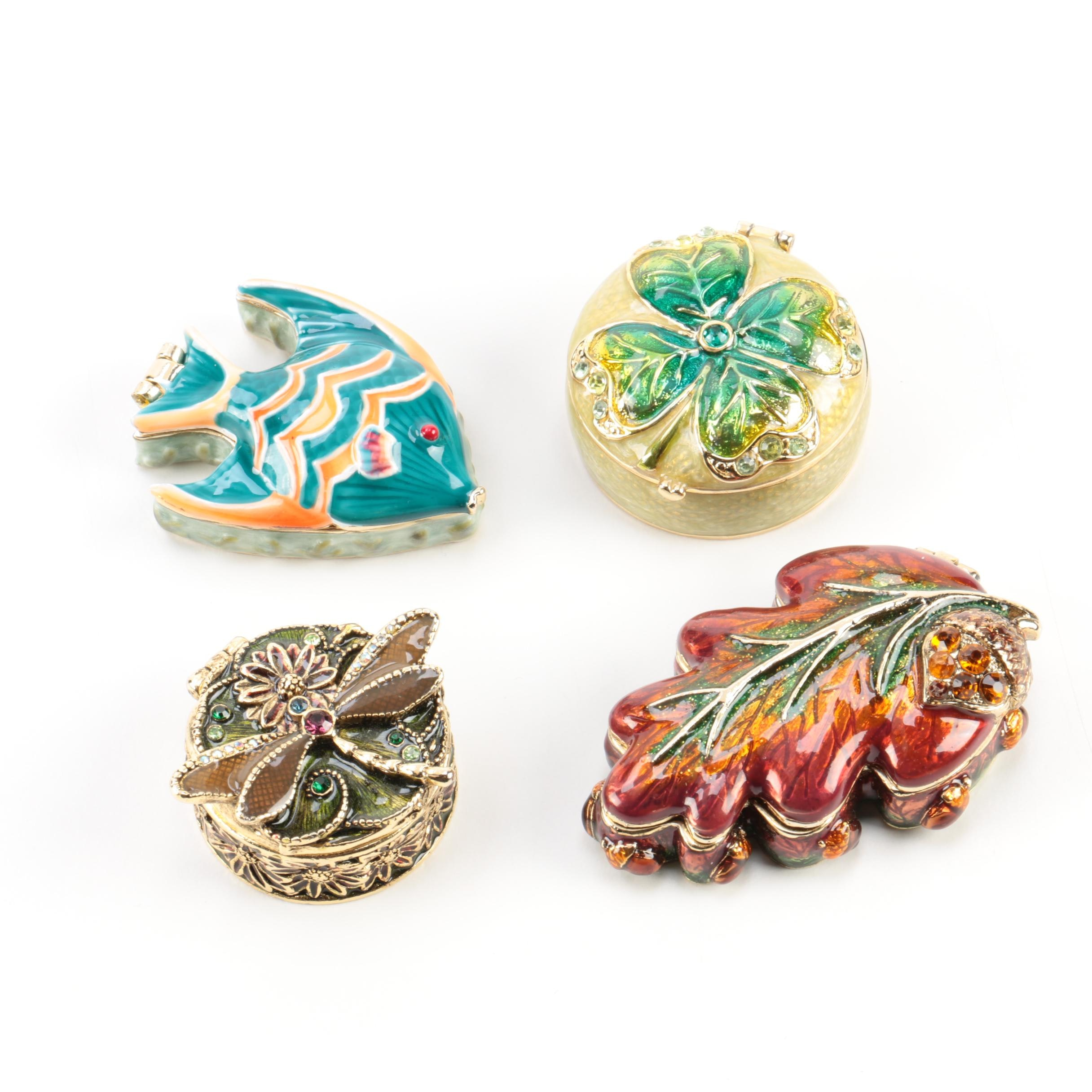 Enameled Trinket Boxes by Monet