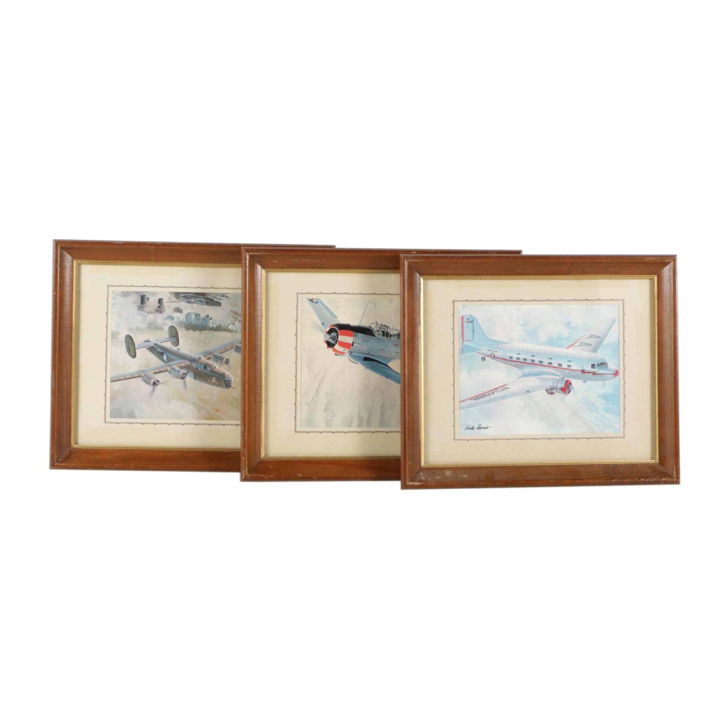 Keith Ferris Offset Lithographs on Paper of Planes