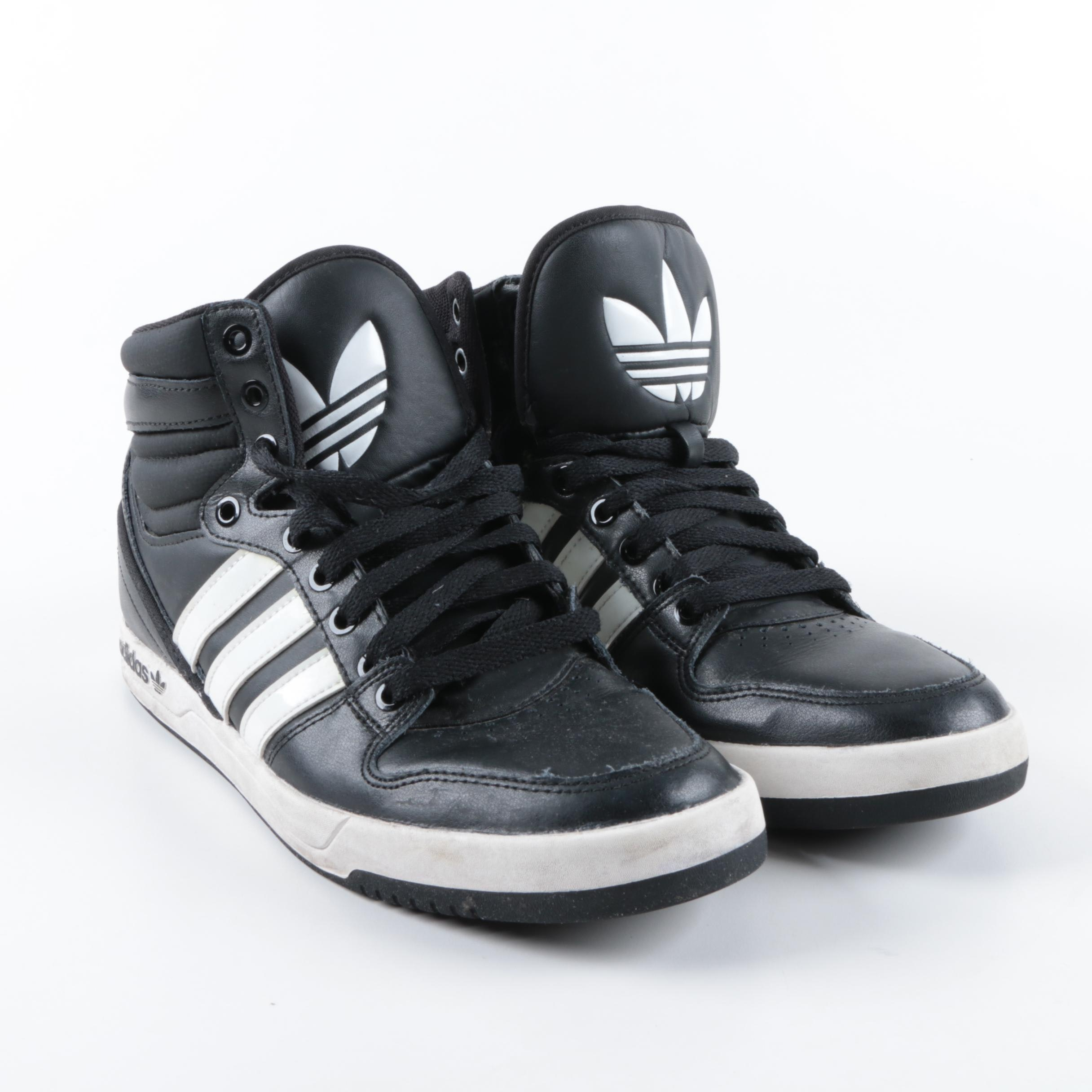 Men's Adidas Originals Court Attitude High Top Sneakers