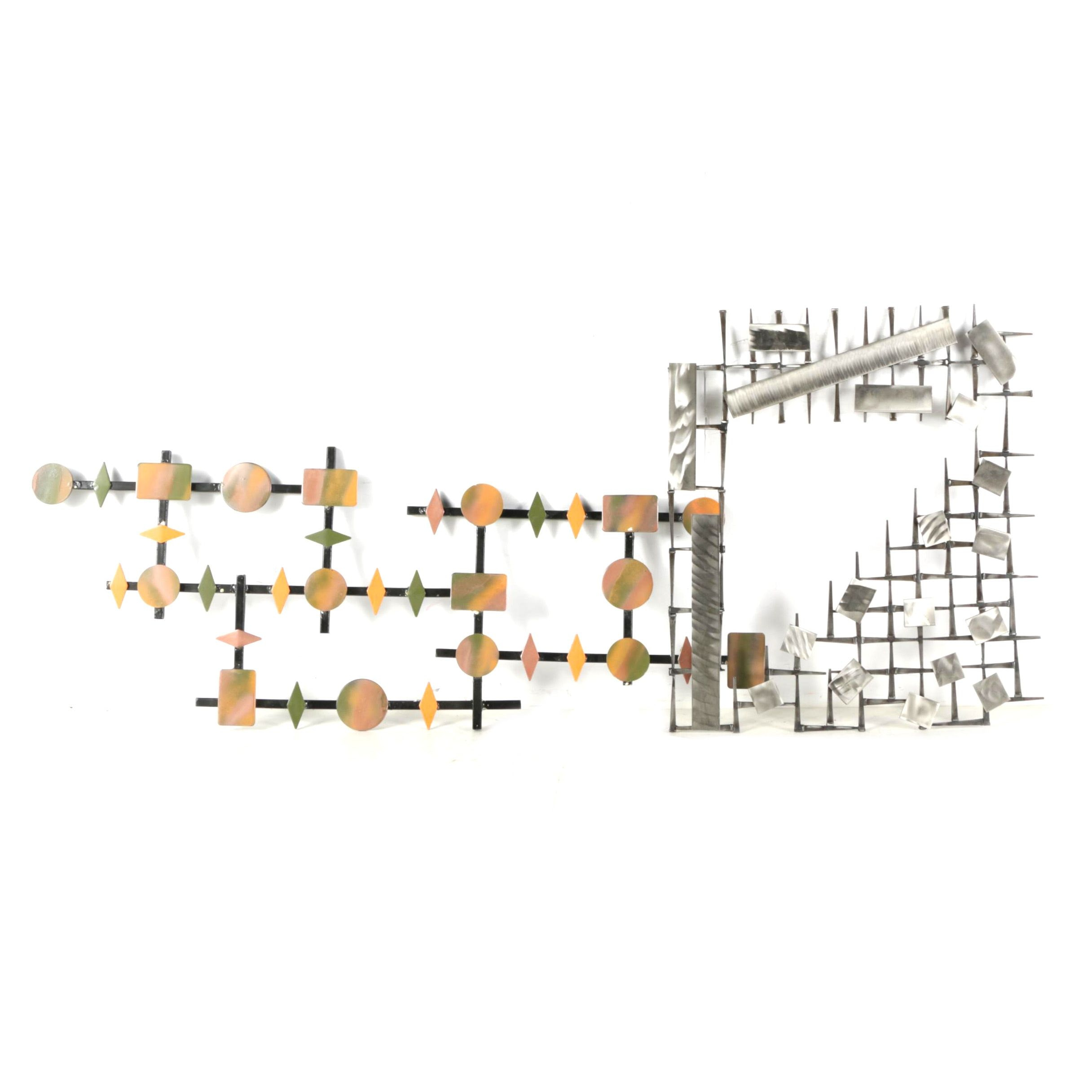 Abstract Enamel and Metal Wall Hangings