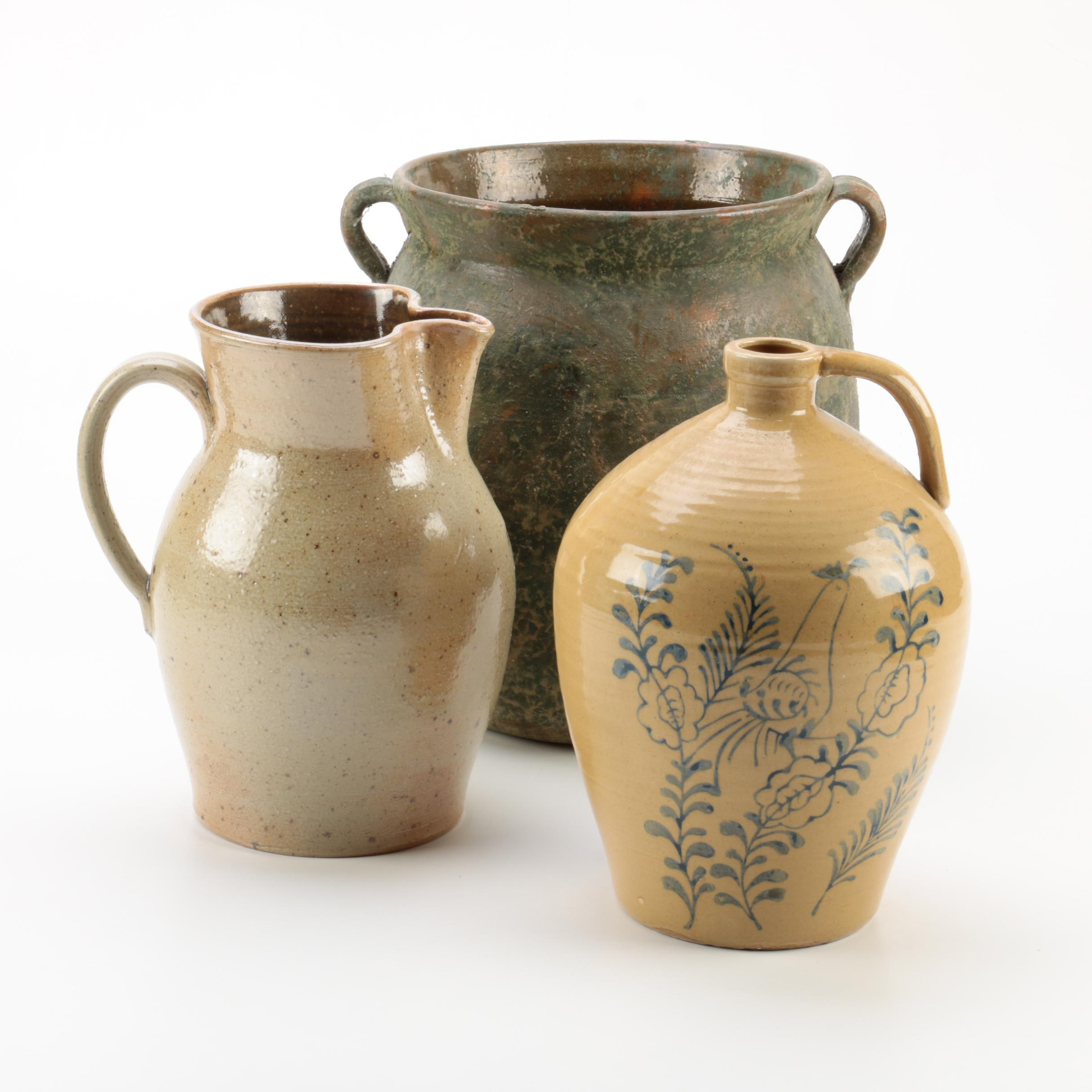 Hand Thrown Stoneware Vessels Including Conner Prairie