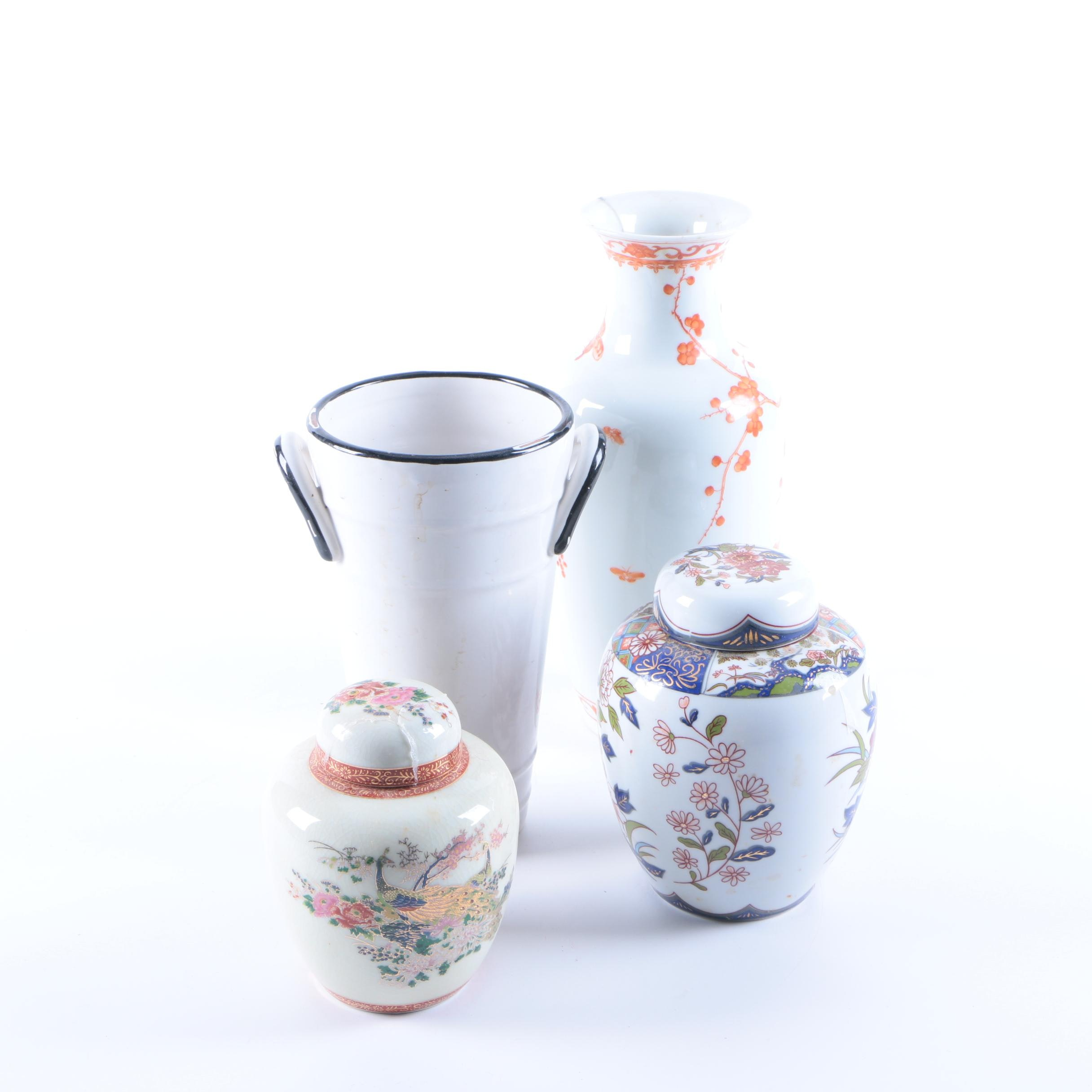 Ceramic Urns and Vases Featuring Satsuma