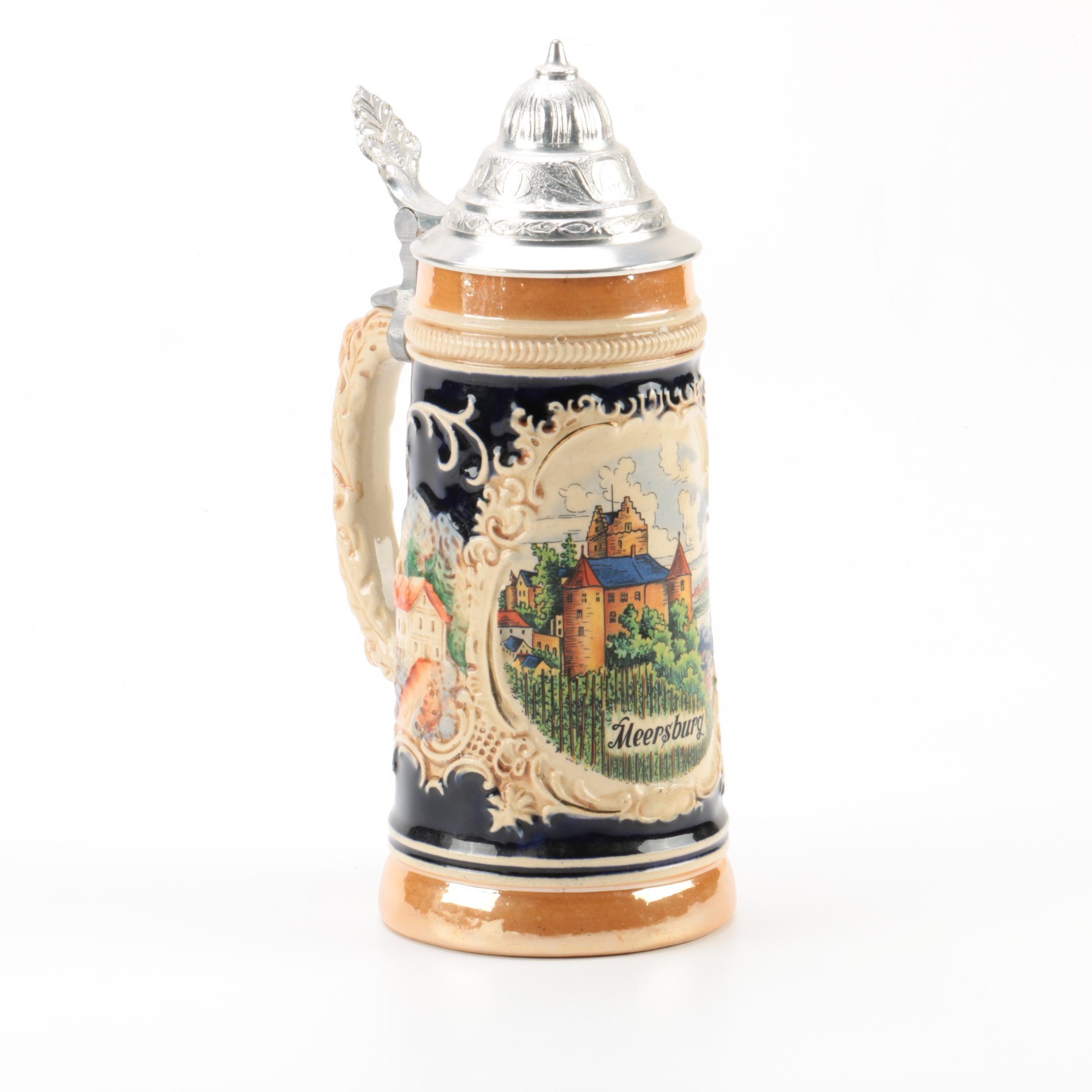 Lerchen Ceramic Beer Stein