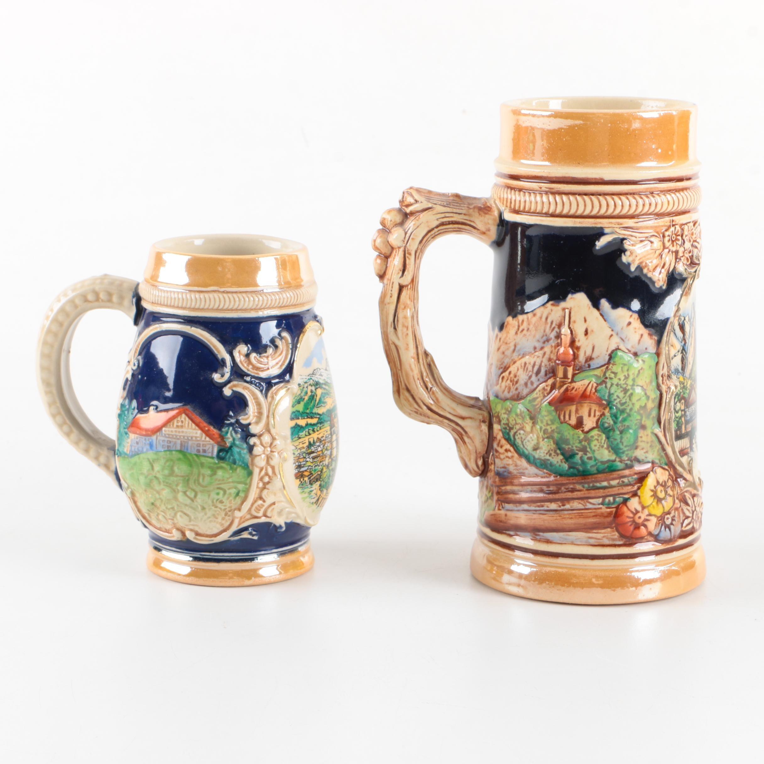 Stoneware Beer Steins including Wick-Werke