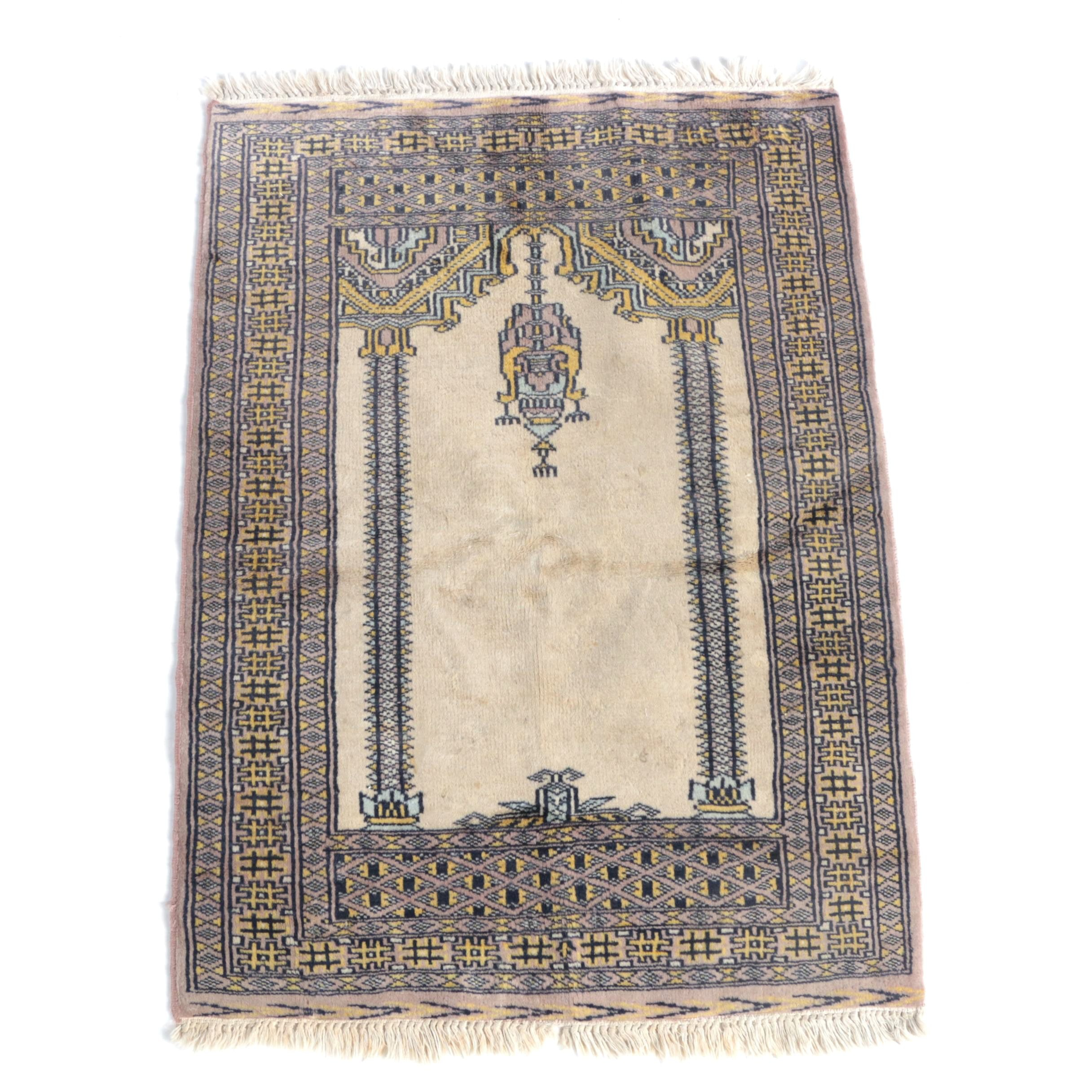 Hand-Knotted Ghiordes Prayer Rug