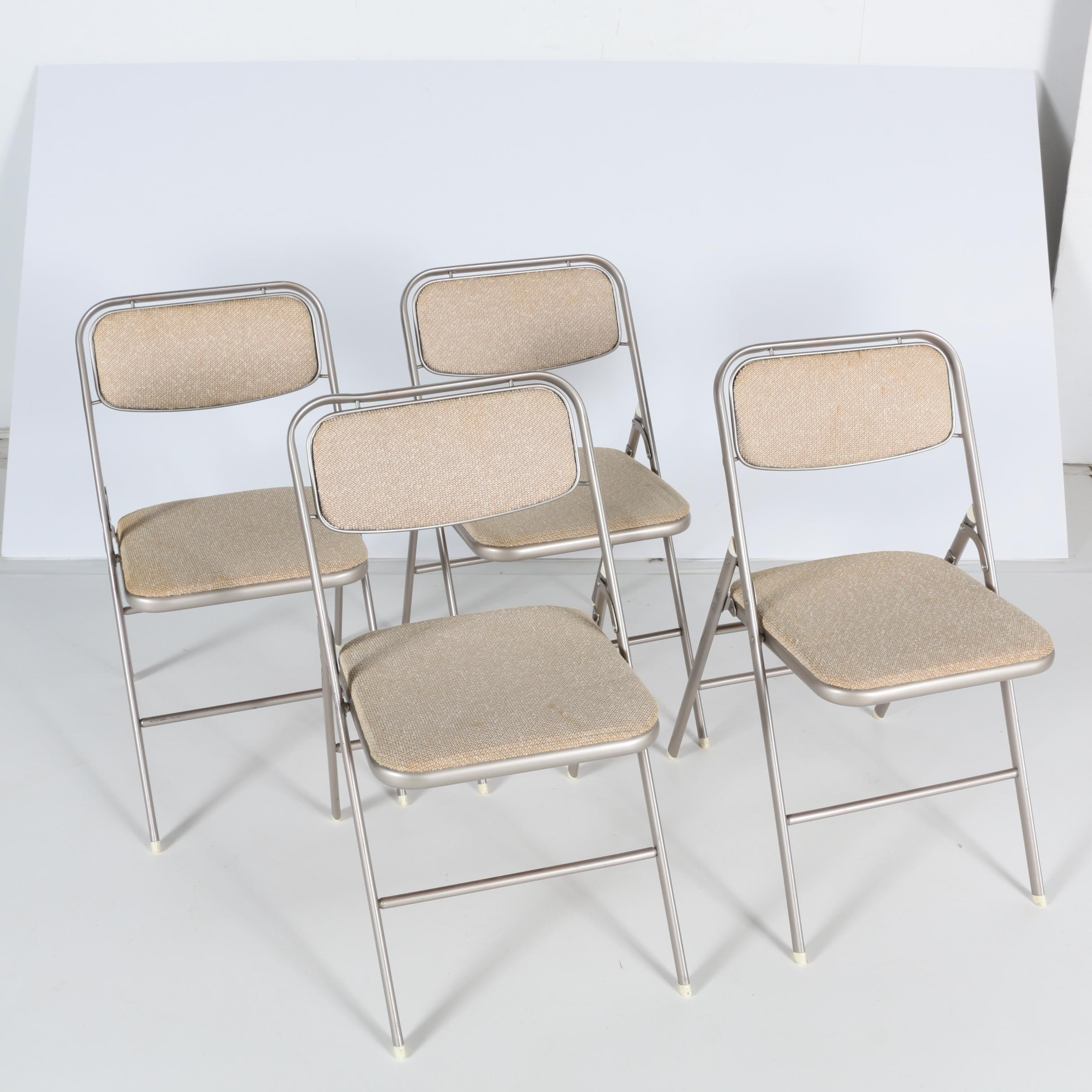 Four Samsonite Folding Chairs