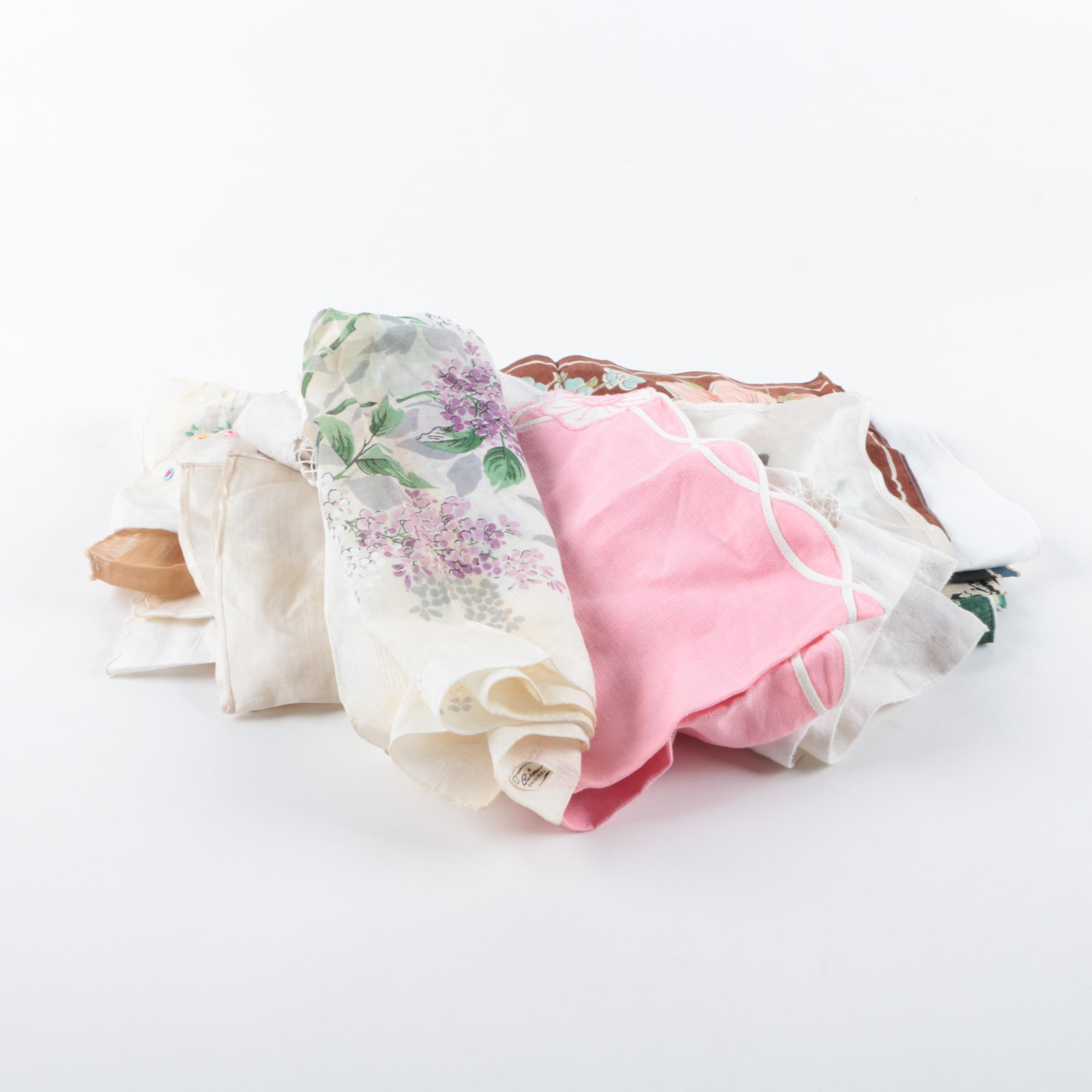Vintage Embroidered Handkerchiefs
