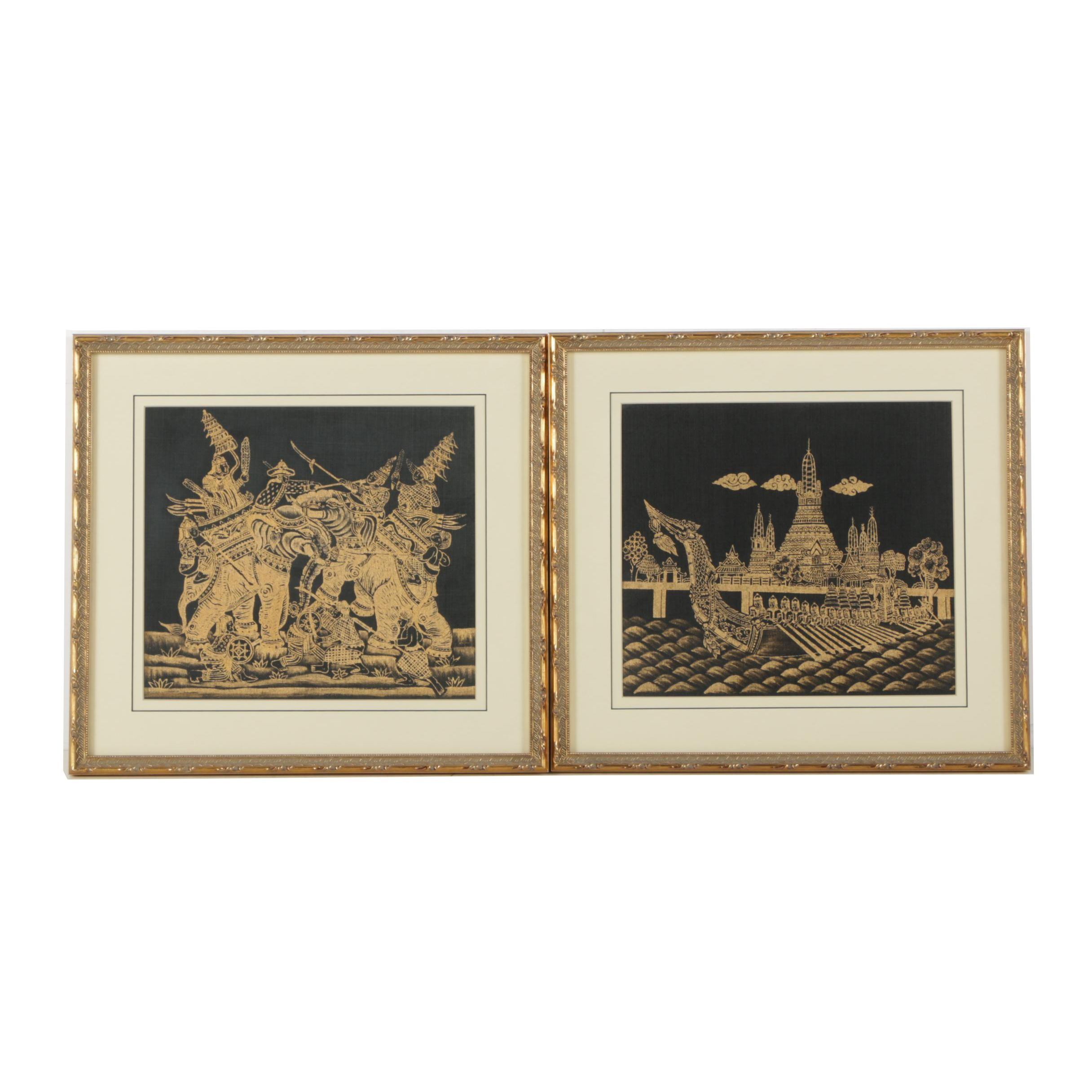 Thai Relief Prints on Fabric