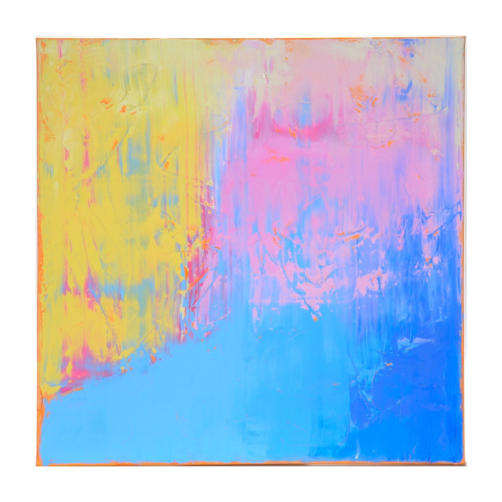 """Sarah Brown Abstract Oil Painting """"Updraft"""""""