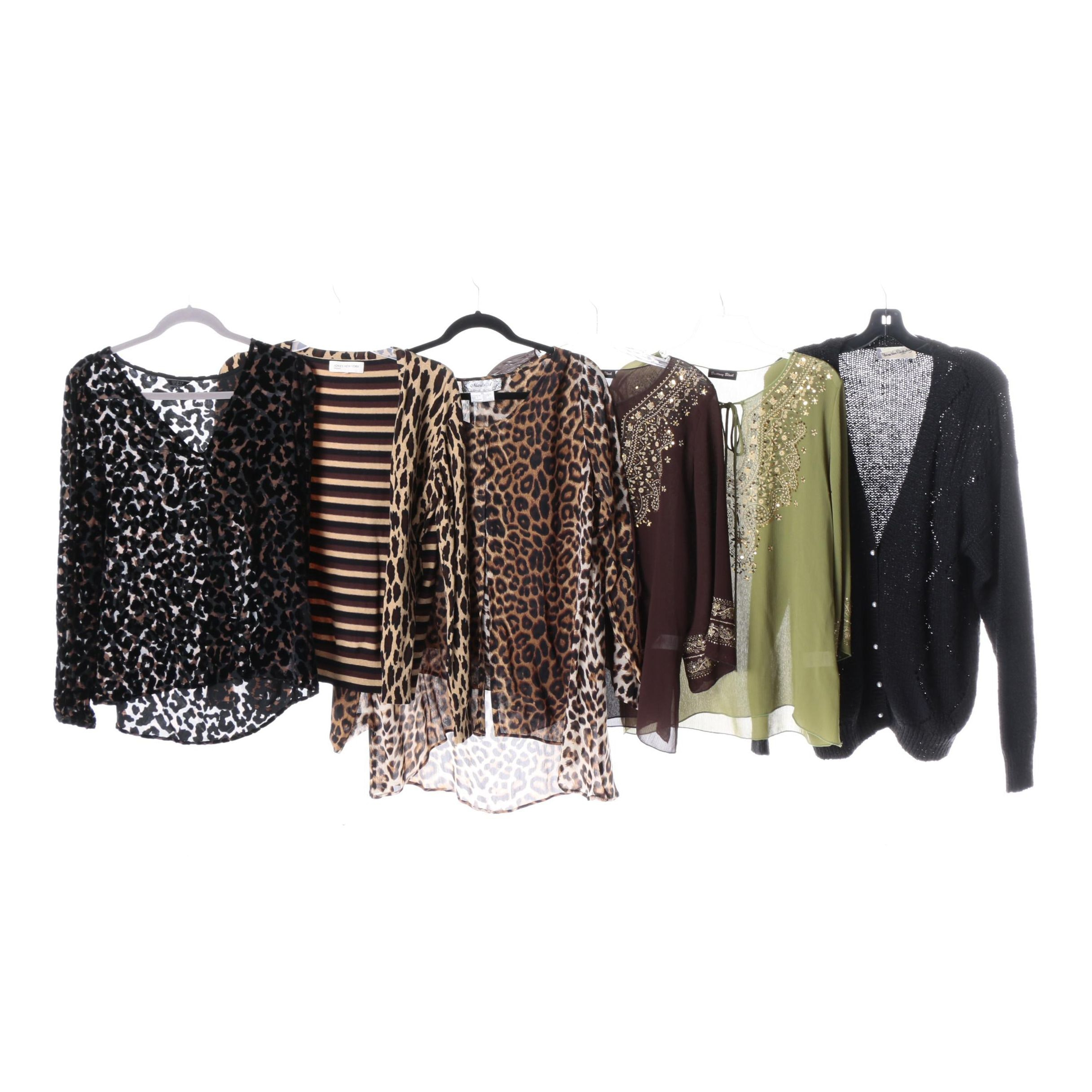 Women's Blouses and Cardigans Including Vintage Diane von Furstenberg