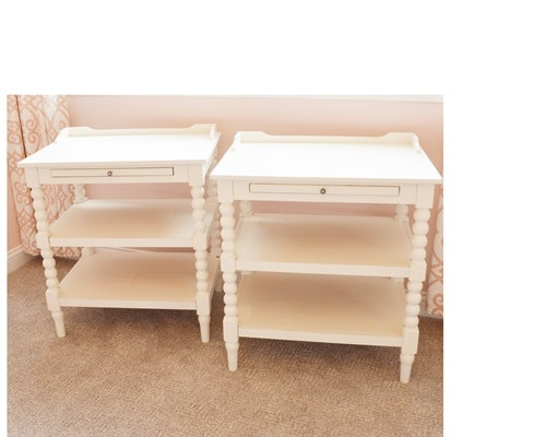 Off-White Painted Accent Tables