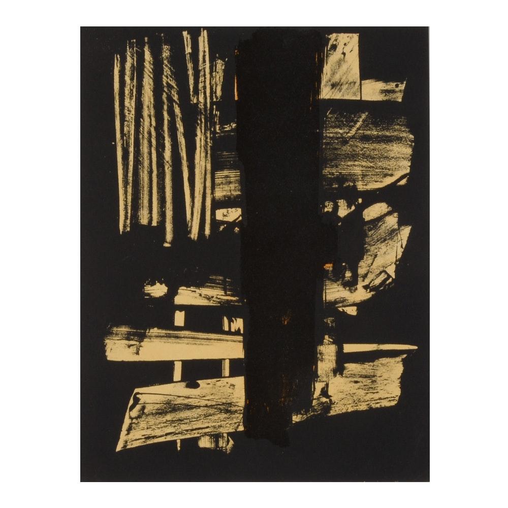 "Pierre Soulages Lithograph ""Lithographie No. 9"""