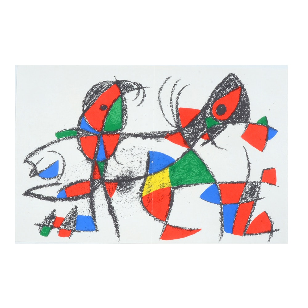 """Joan Miró Hand-Pulled Lithograph from """"LITHOGRAPHS II"""""""