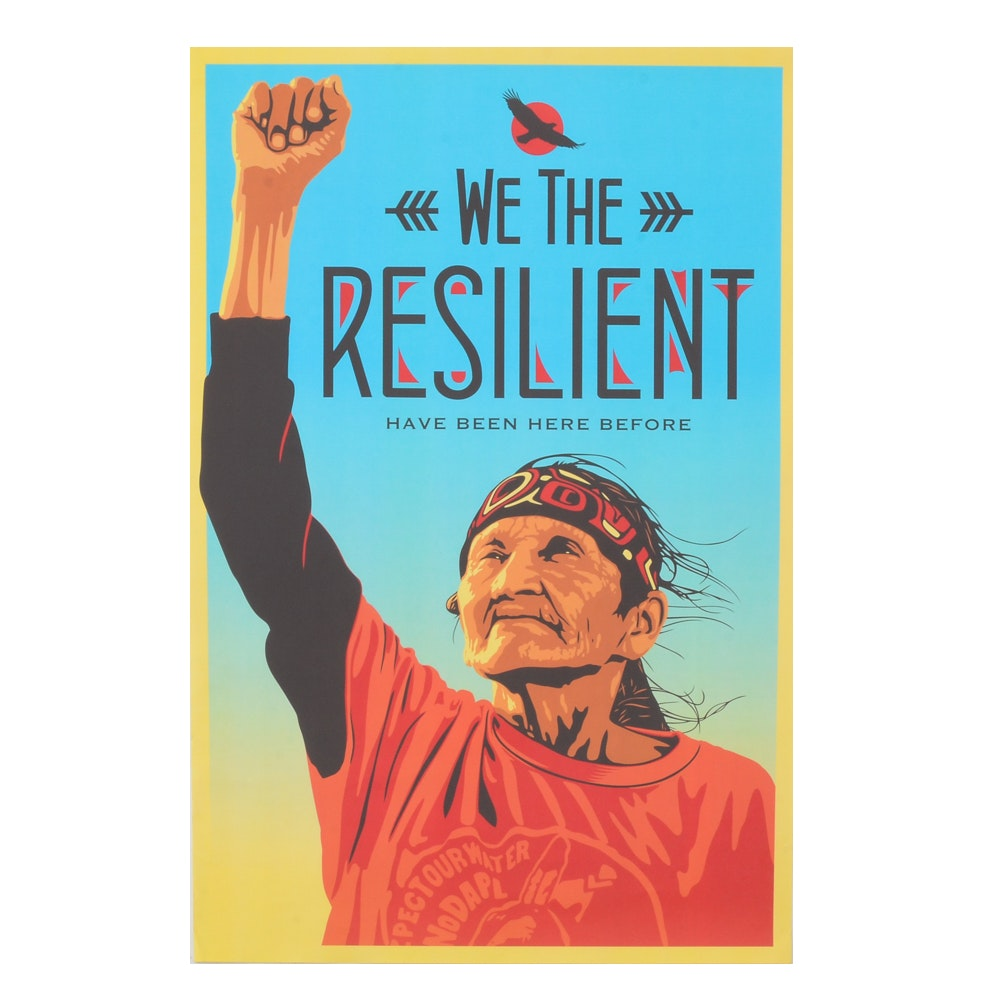 "Eresto Yerena Montejano Offset Lithograph Poster ""We the Resilient"""