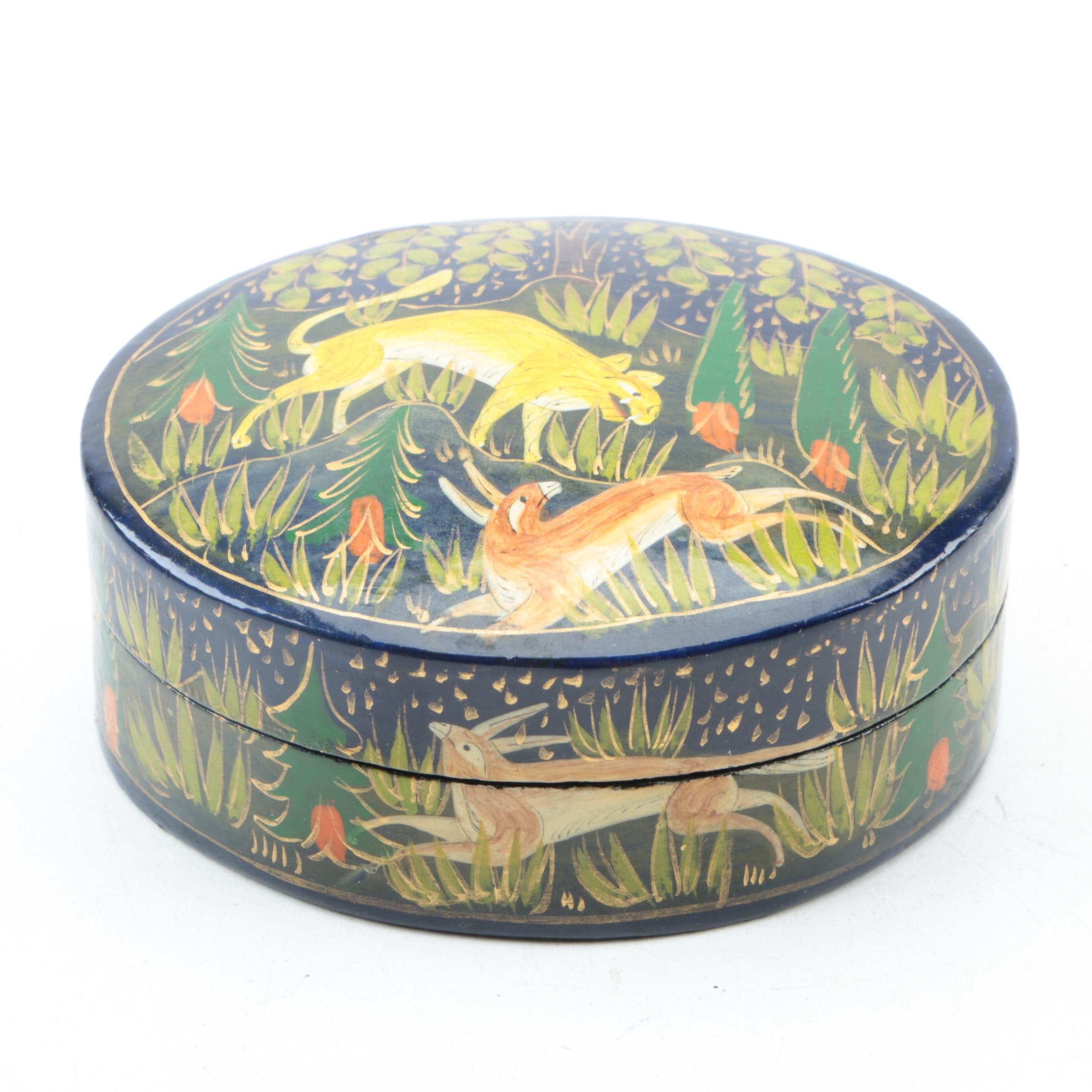 Lacquered Wooden Trinket Box