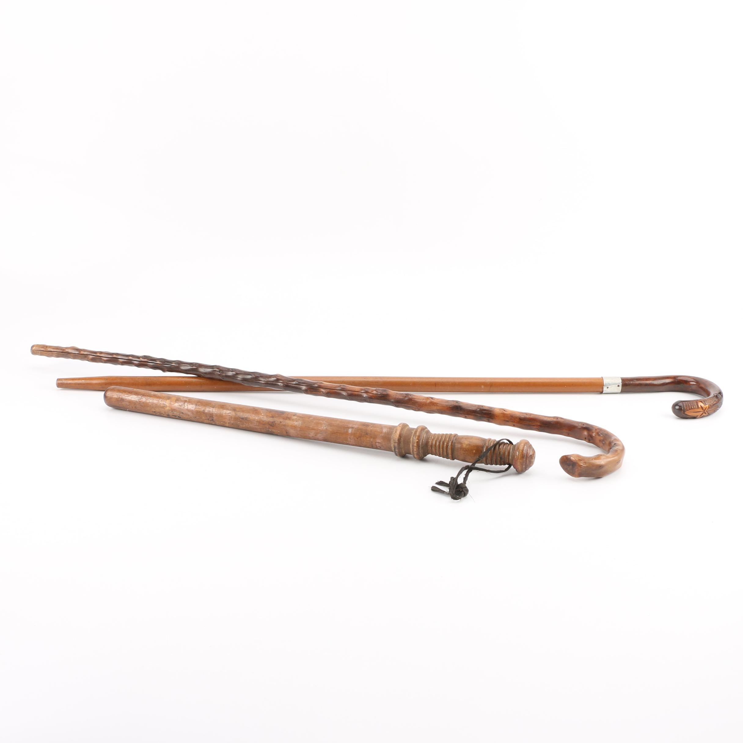 Vintage Truncheon and Canes