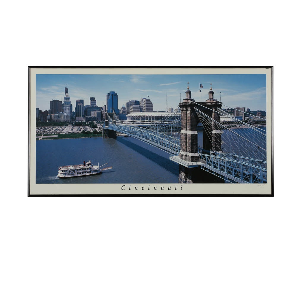 """J. Miles Wolf Limited Edition Offset Lithograph """"Cincinnati"""""""