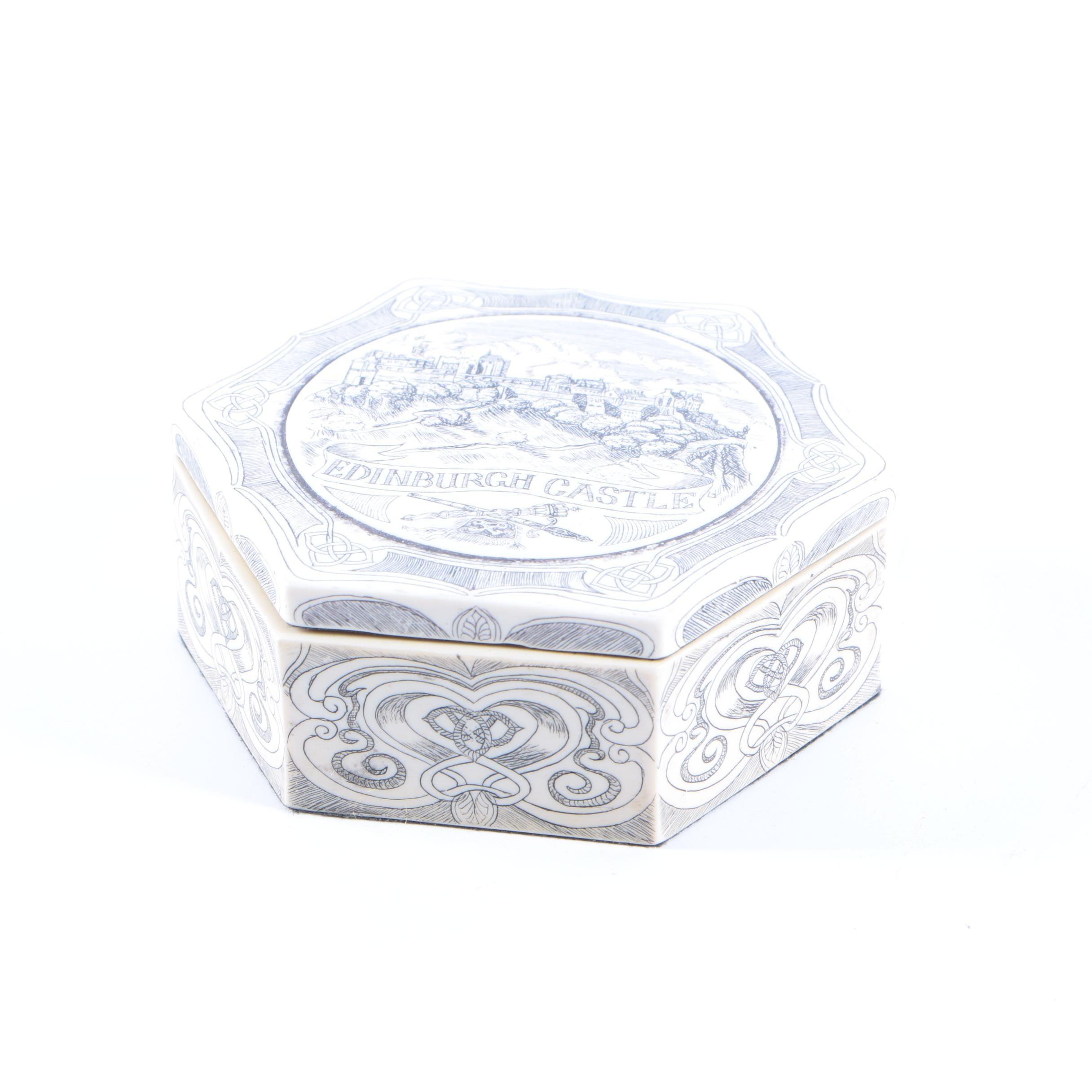 Resin Hexagonal Trinket Box