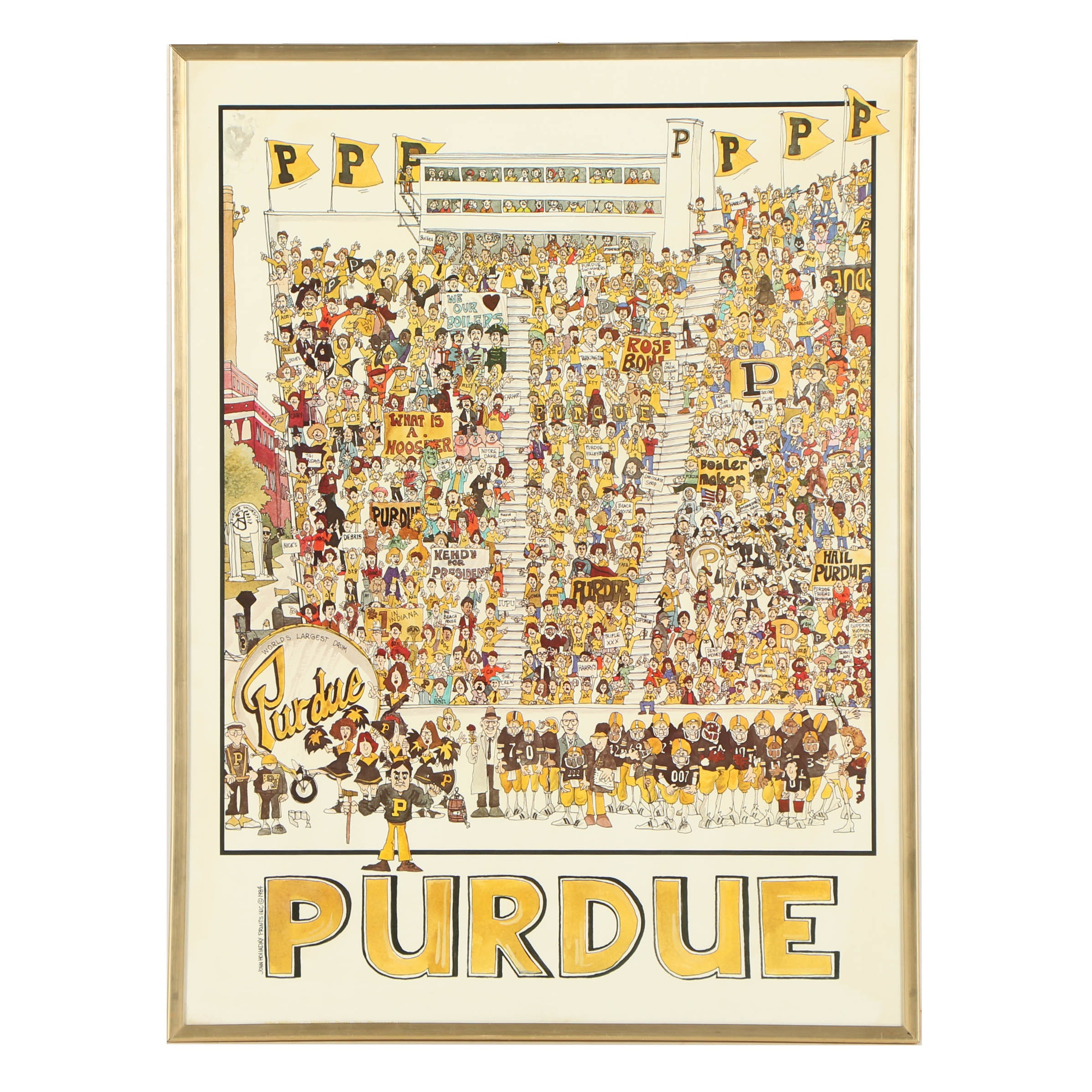 Purdue University Football Poster After John Holladay