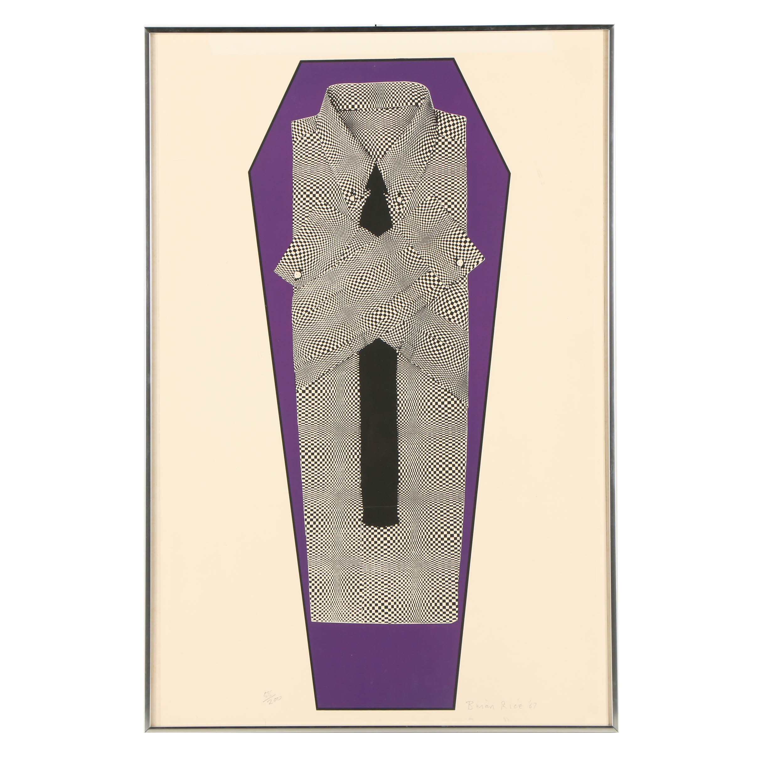 """Brian Rice Limited Edition Serigraph """"Farewell Pop"""""""