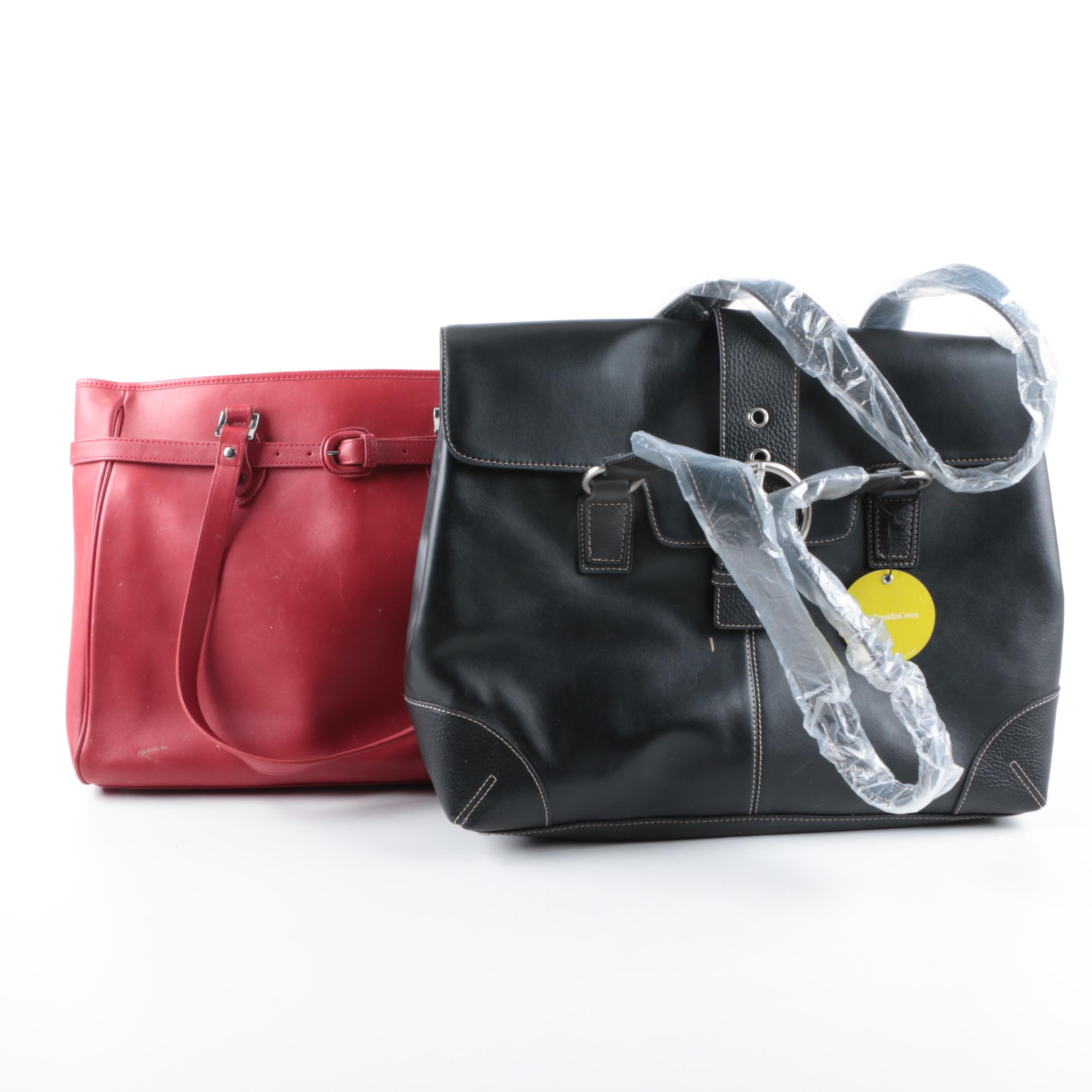Franklin Covey and Jack Georges Leather Totes
