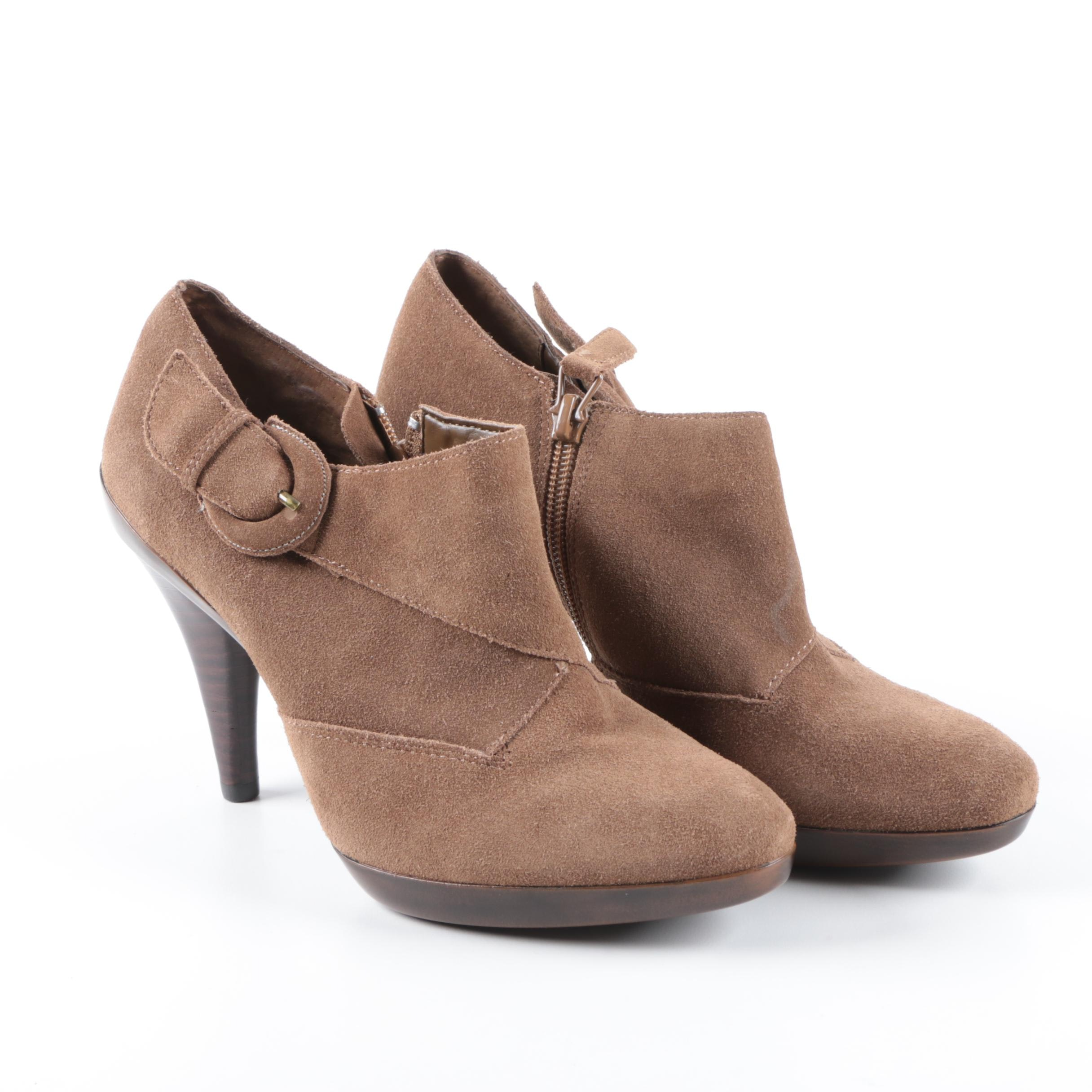 Joan & David Brown Suede Booties