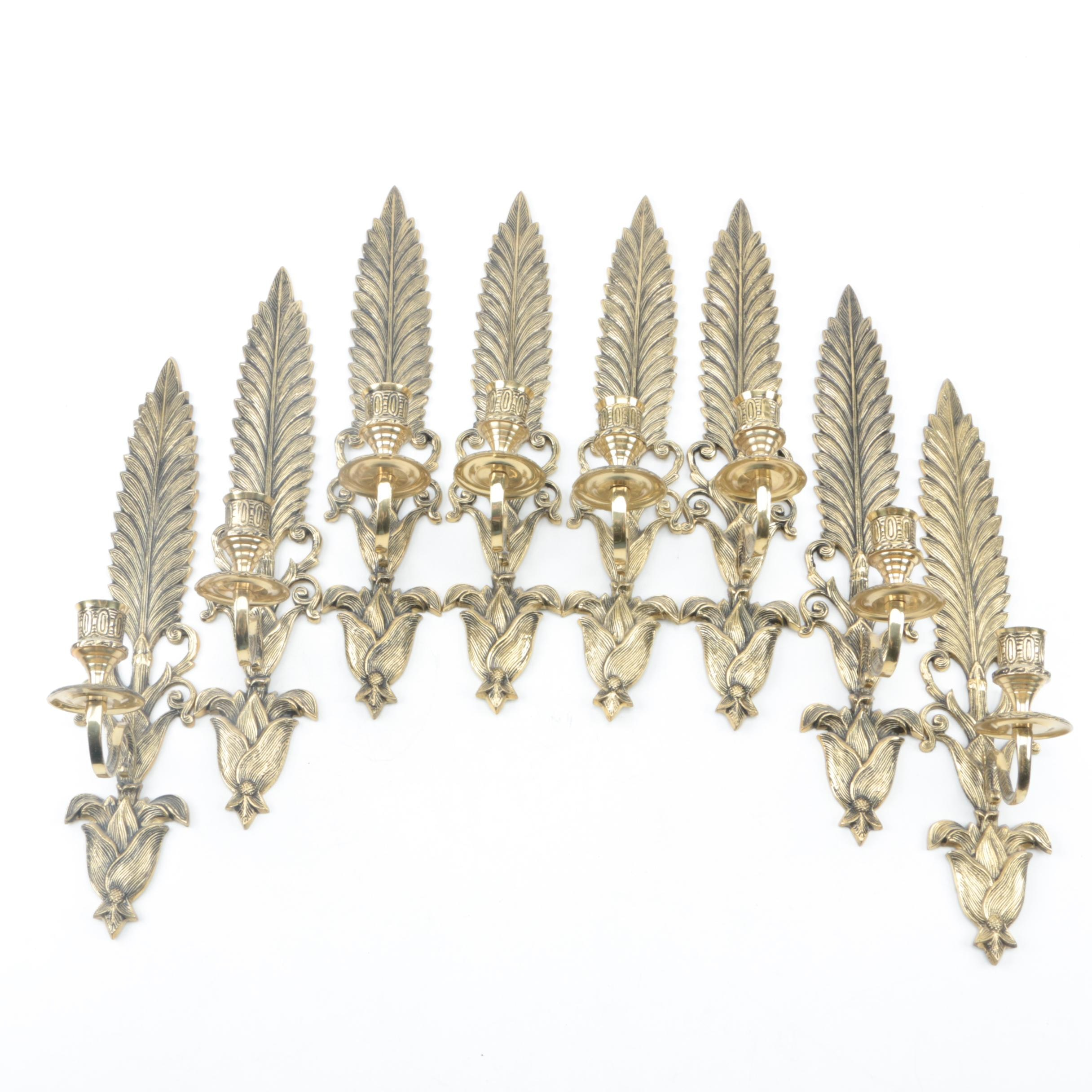 Set of Lacquered Brass Candle Sconces
