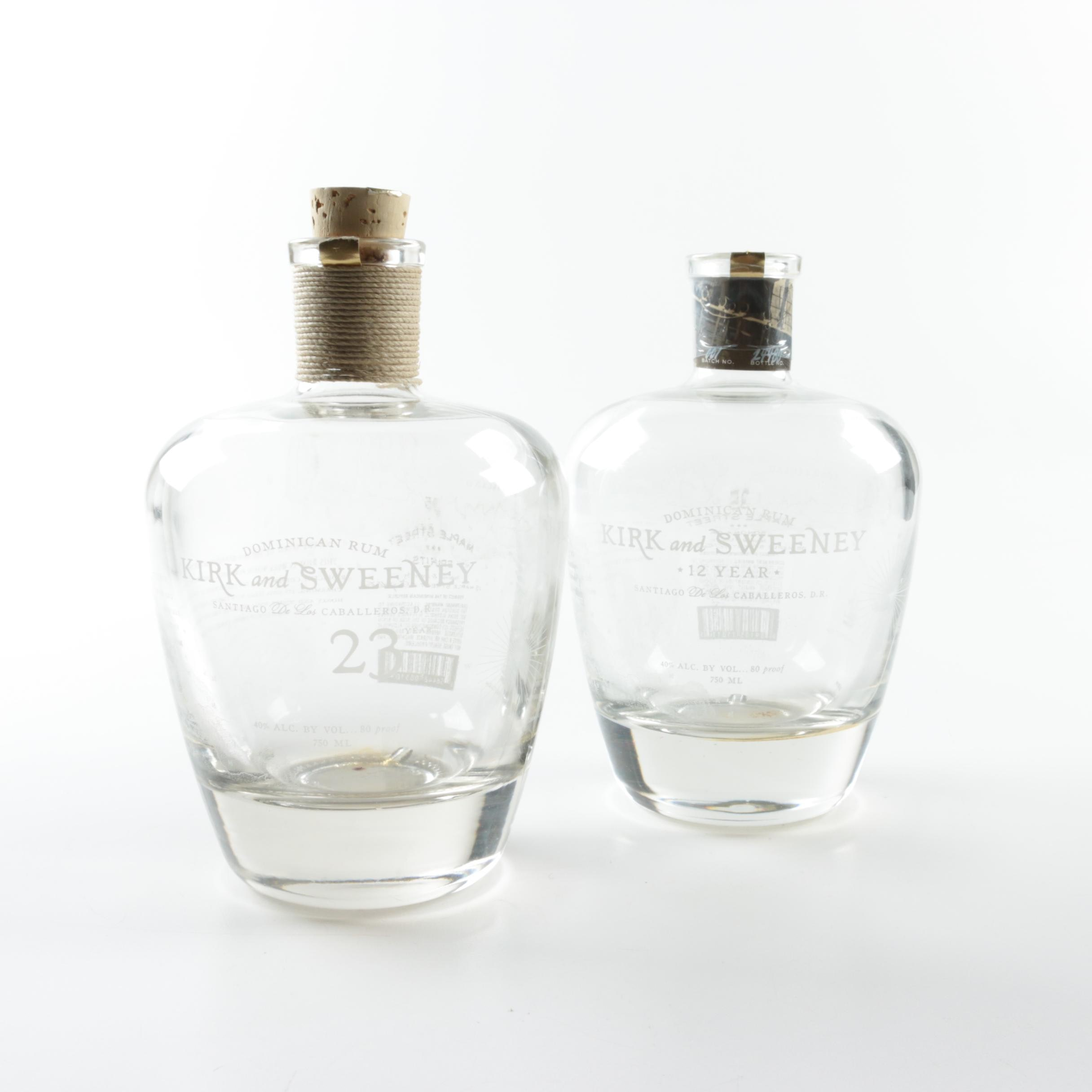 Kirk and Sweeney Dominican Rum Bottles