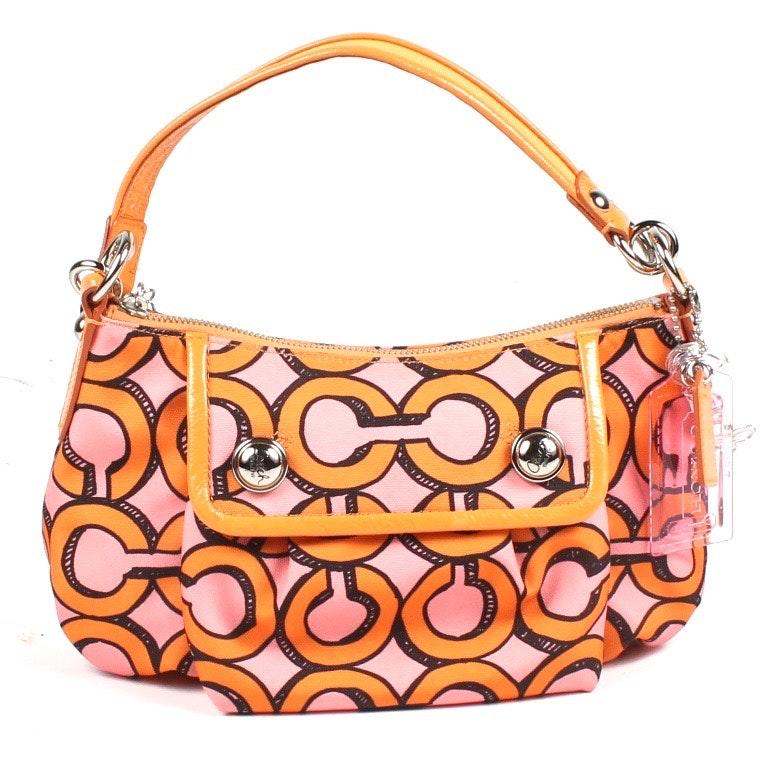 Coach Poppy Glam Signature Handbag