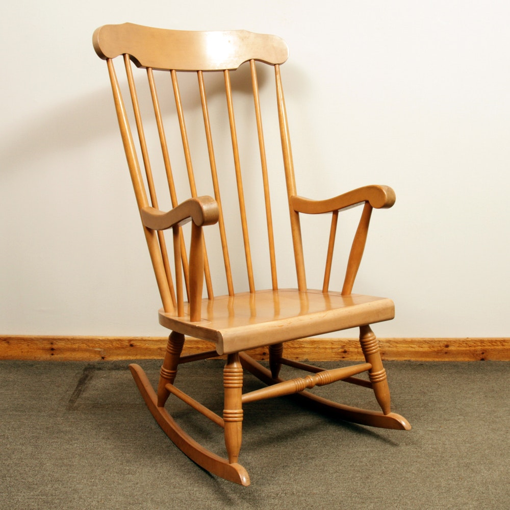 Charming Vintage Windsor Style Rocking Chair ...