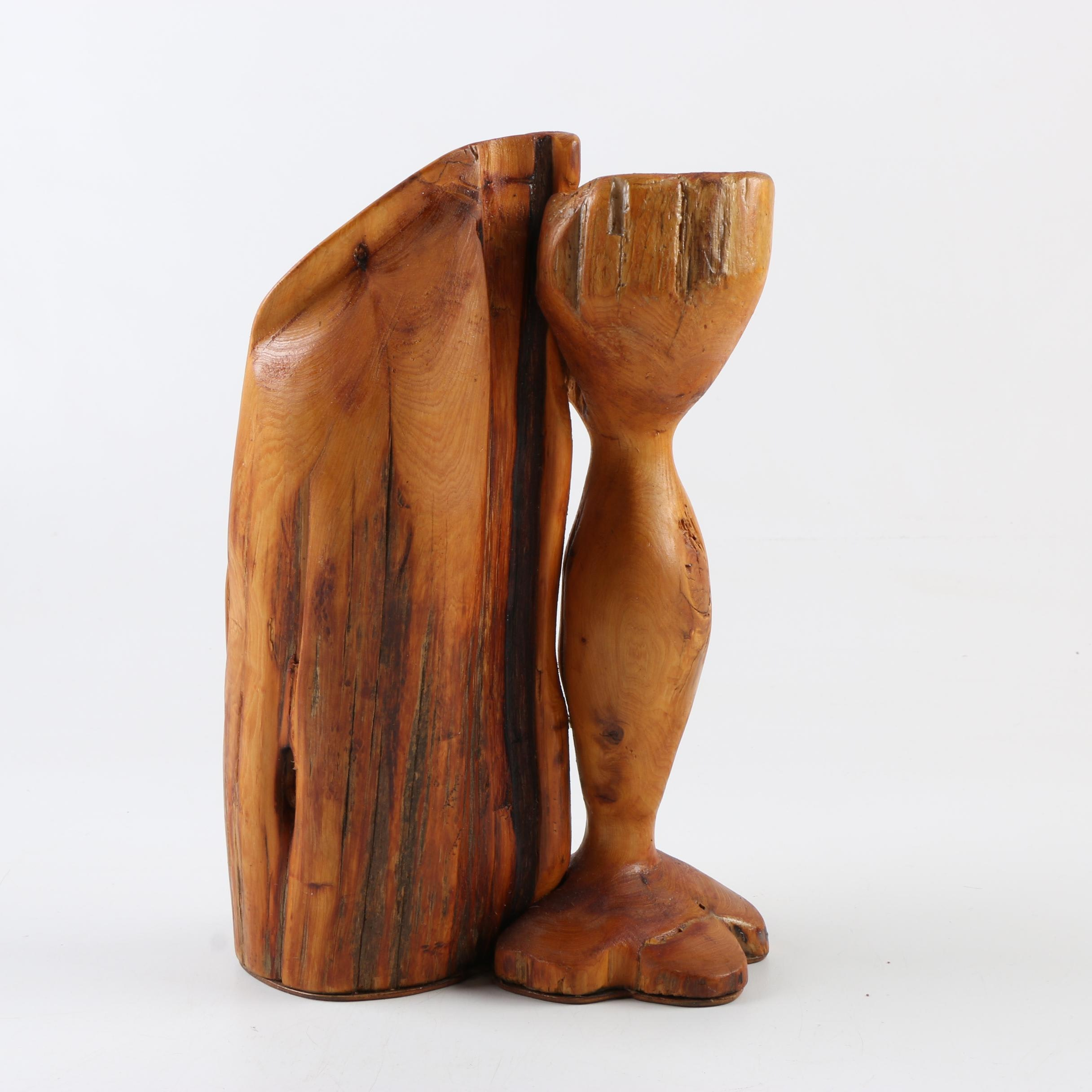Carved Wooden Contemporary Sculpture