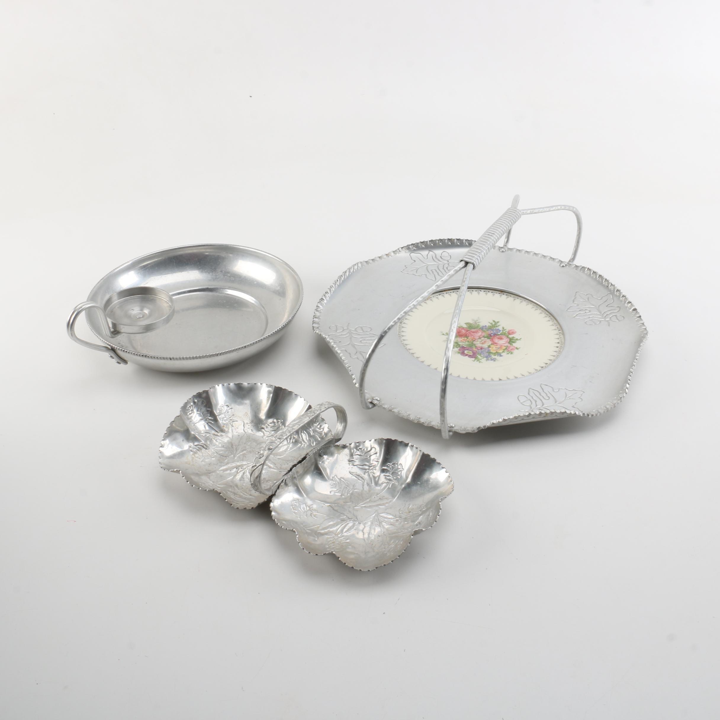 Vintage Aluminum Serving Dishes Including Buenilum