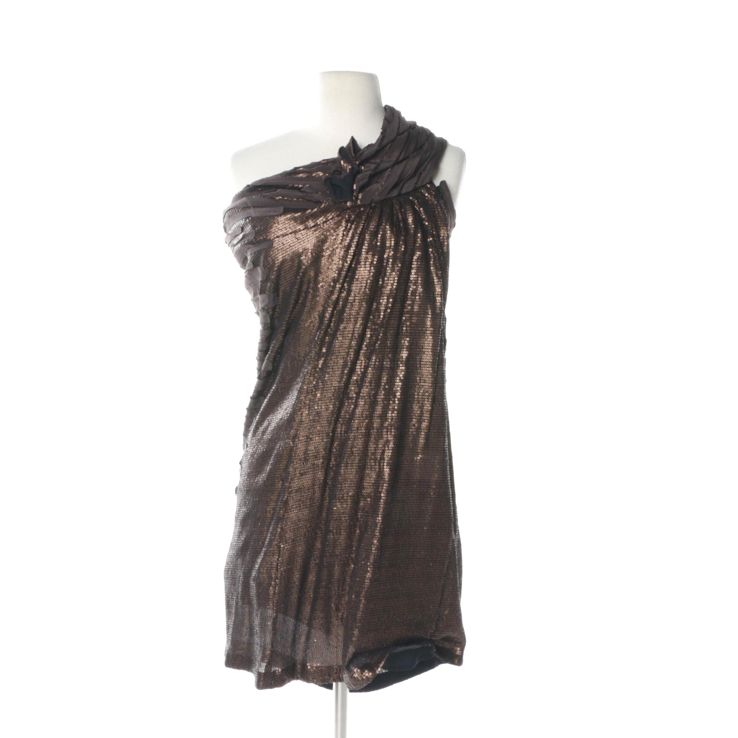 Sachin & Babi Sequined Evening Dress