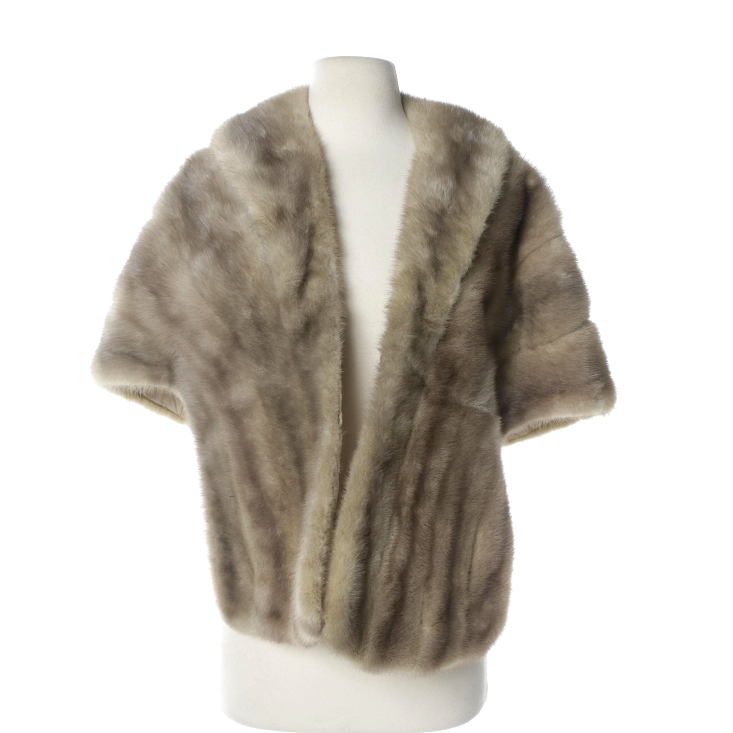 Vintage Grey Mink Fur Stole
