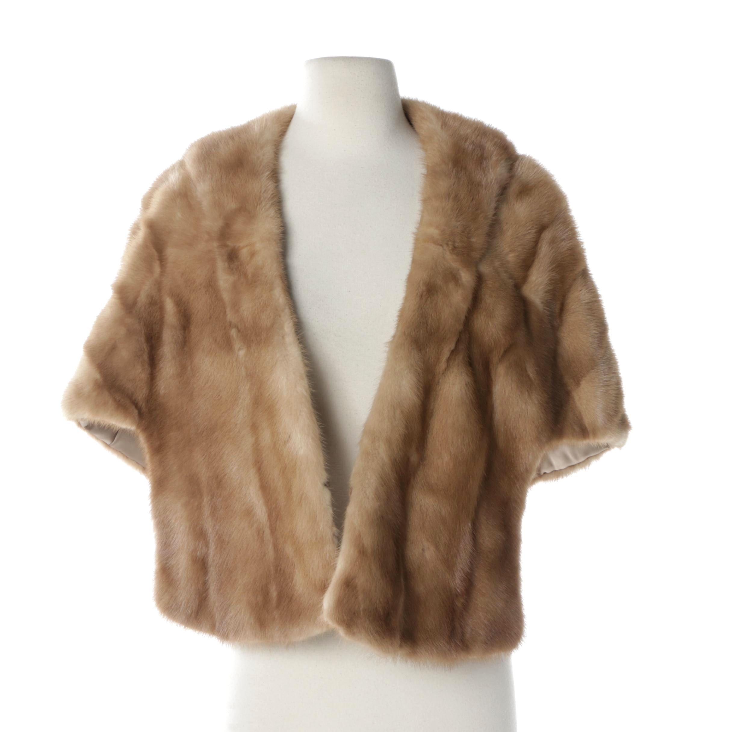 Women's Vintage Dark Blonde Mink Fur Stole