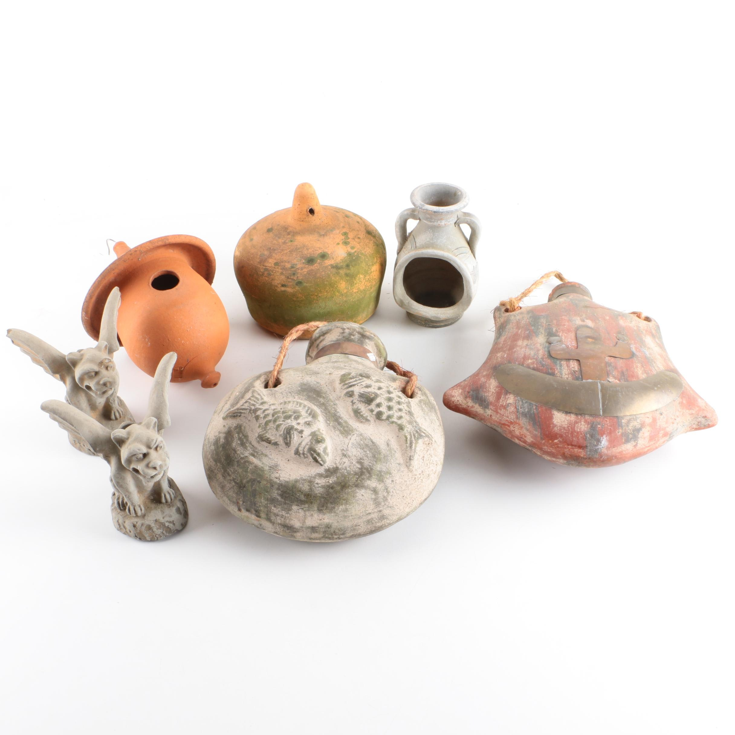 Ceramic Birdhouses and Garden Decor