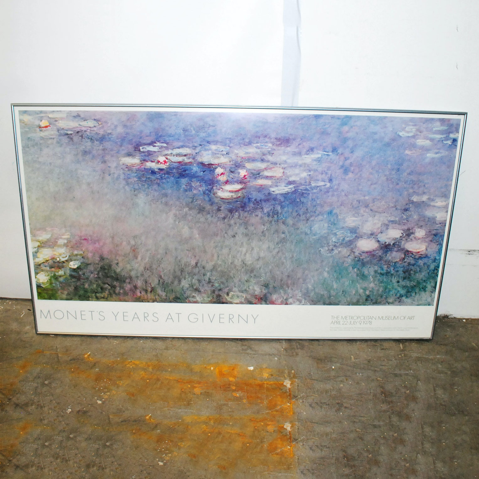 "Offset Lithographic Print of ""Monet's Years At Giverny"" 1978 Exhibition Poster"