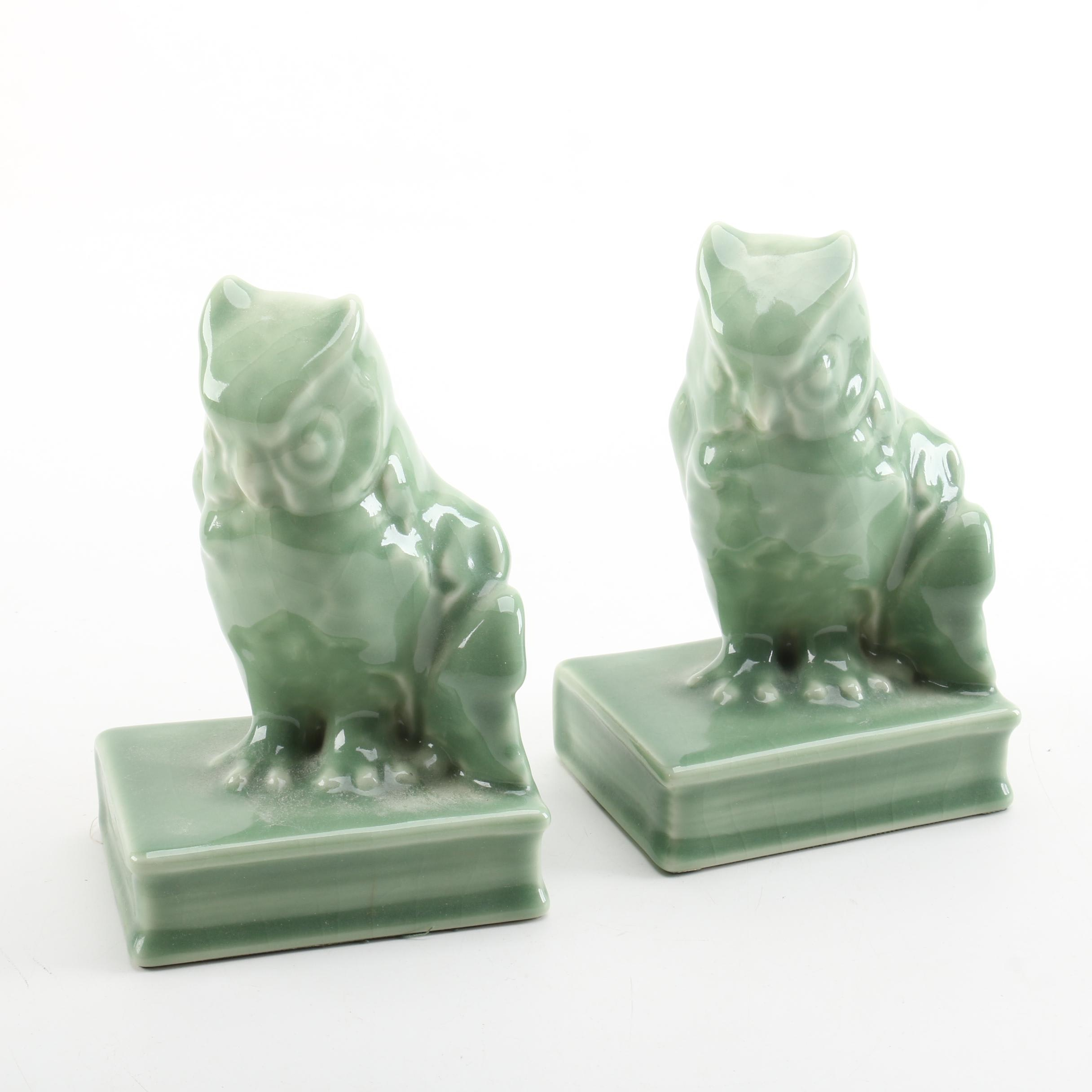 1954 Rookwood Pottery Owl Bookends