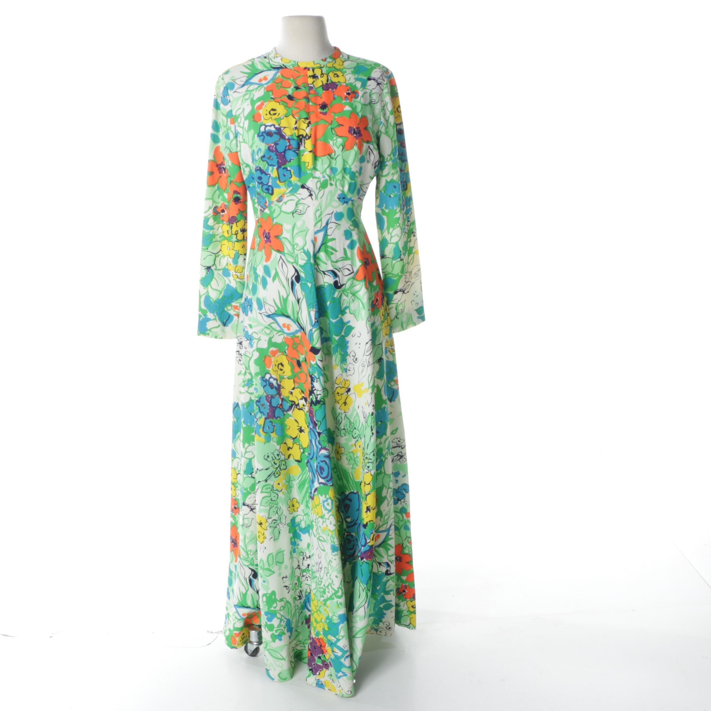 Vintage Neiman Marcus Floral Print Dress