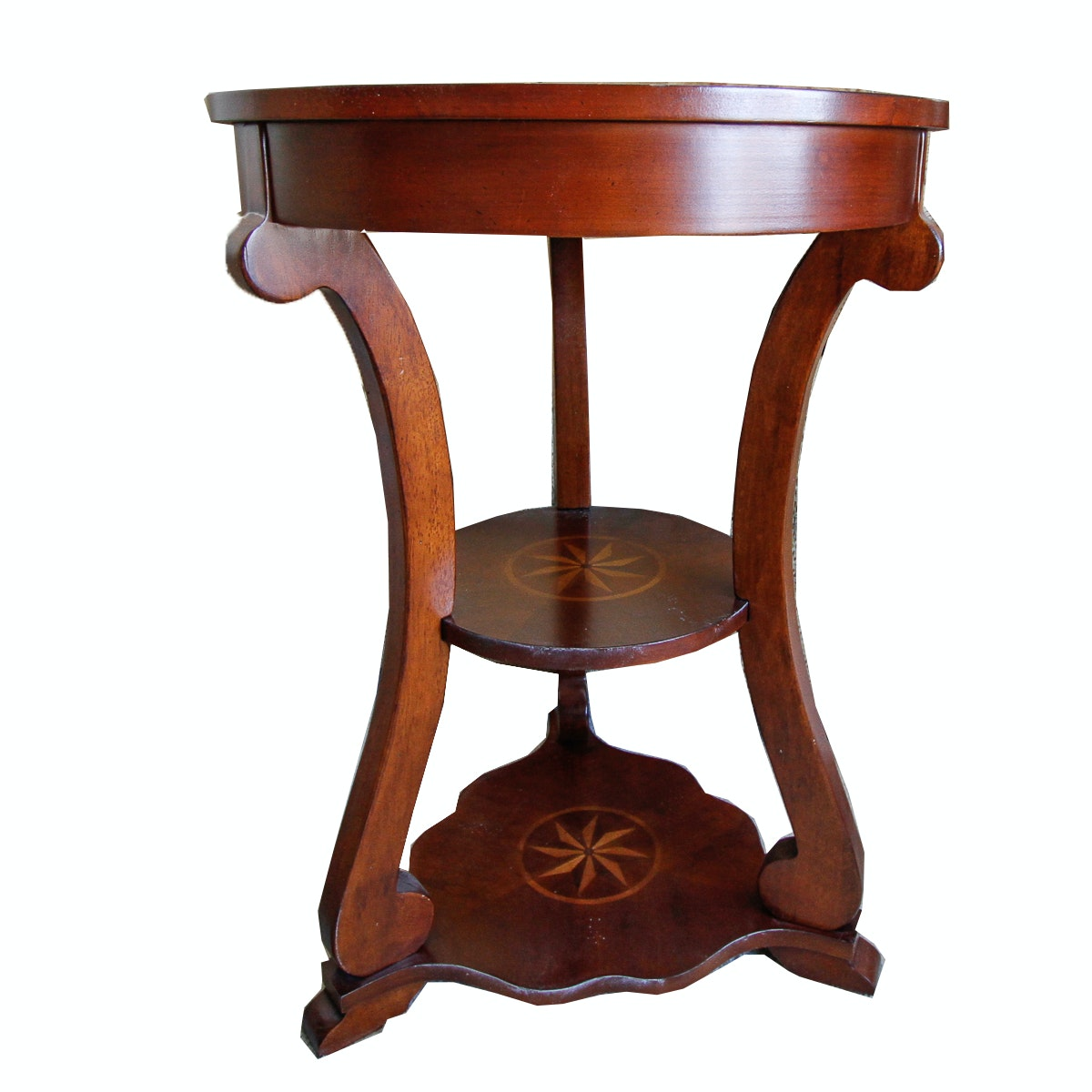 Empire Style Inlaid Side Table