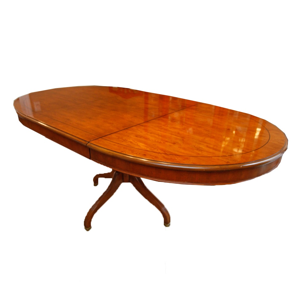 """Yorkshire"" Yew Dining Table by Drexel"